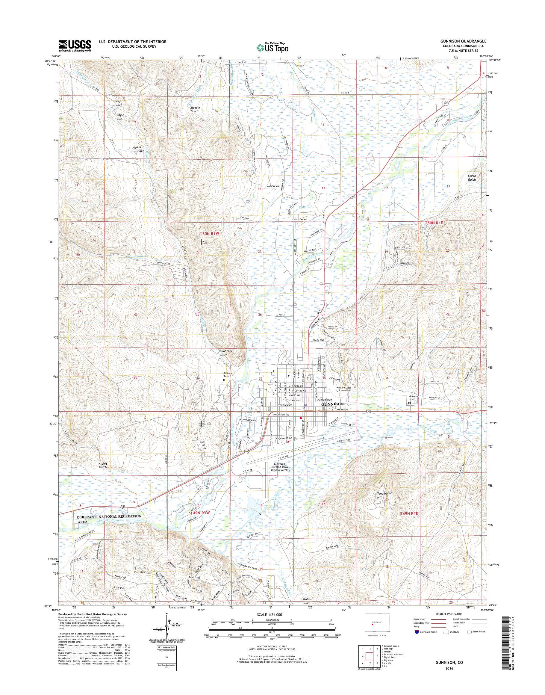 Garfield Monarch Mountain Ski Colorado Vintage Original USGS Topo Map 1940 Gunnison NF San Isabel NF 15-minute Topographic