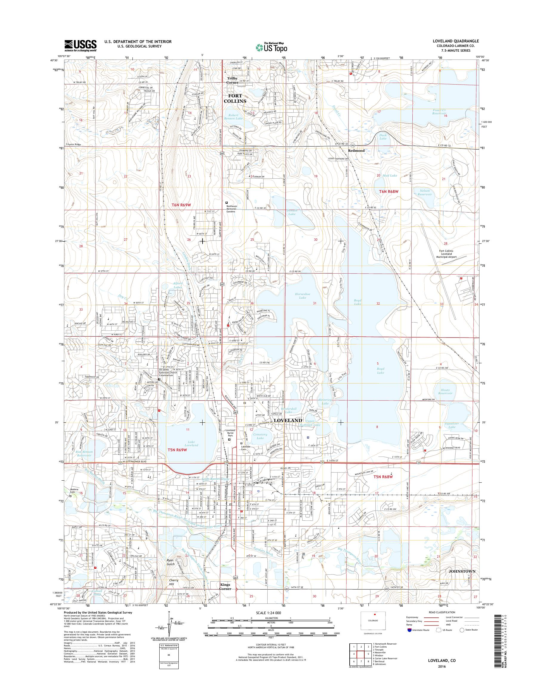MyTopo Loveland, Colorado USGS Quad Topo Map