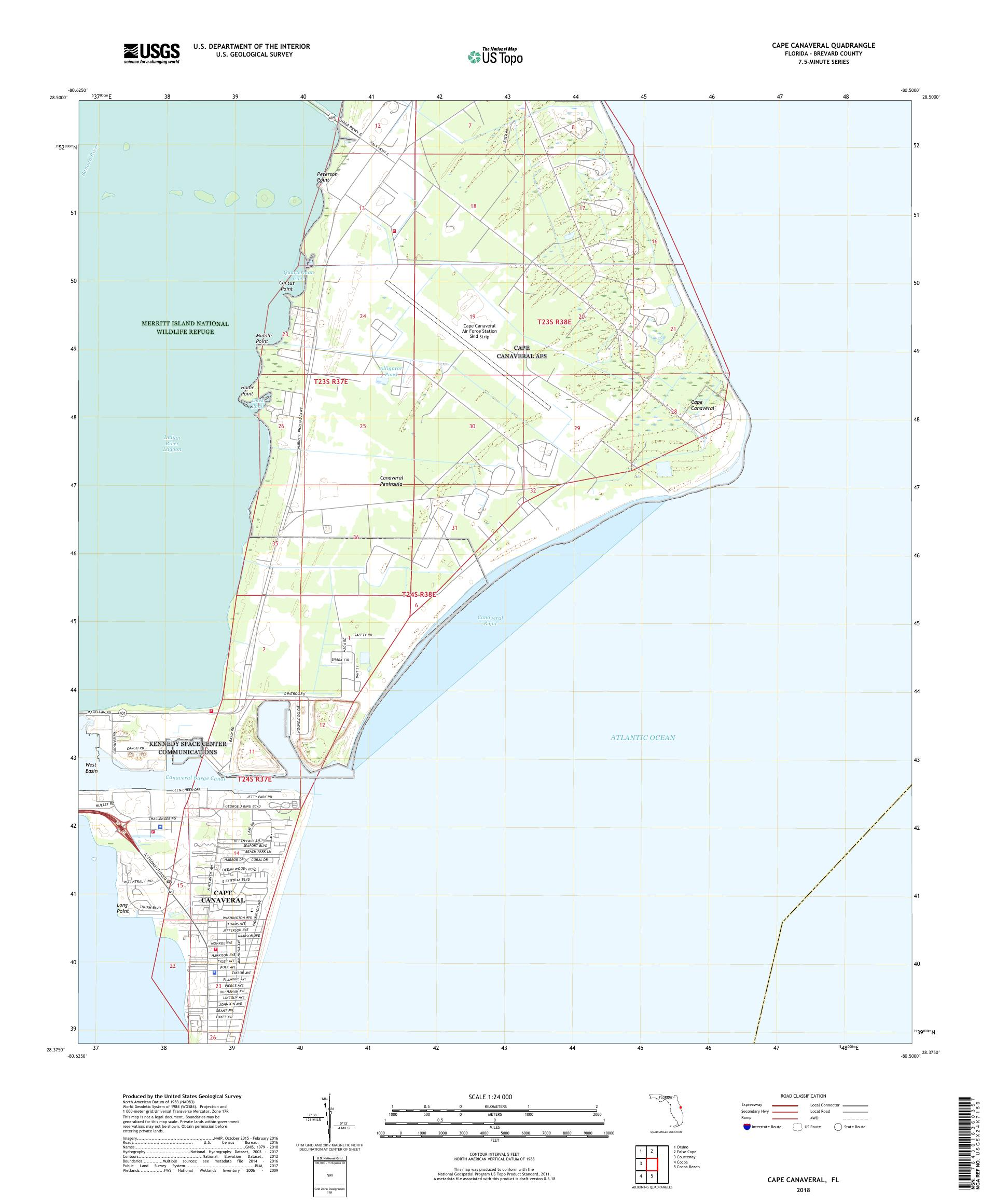 MyTopo Cape Canaveral, Florida USGS Quad Topo Map on myakka map, southwest gulf coast map, cape kennedy map, frostproof map, cape blanco map, cape hatteras map, canaveral groves map, beach in indialantic fl map, lake okeechobee map, gladeview map, cape cod map, great basin map, south daytona beach map, canaveral port authority map, florida map, canaveral barge canal map, st. augustine map, key west map, cape flattery map, the everglades map,