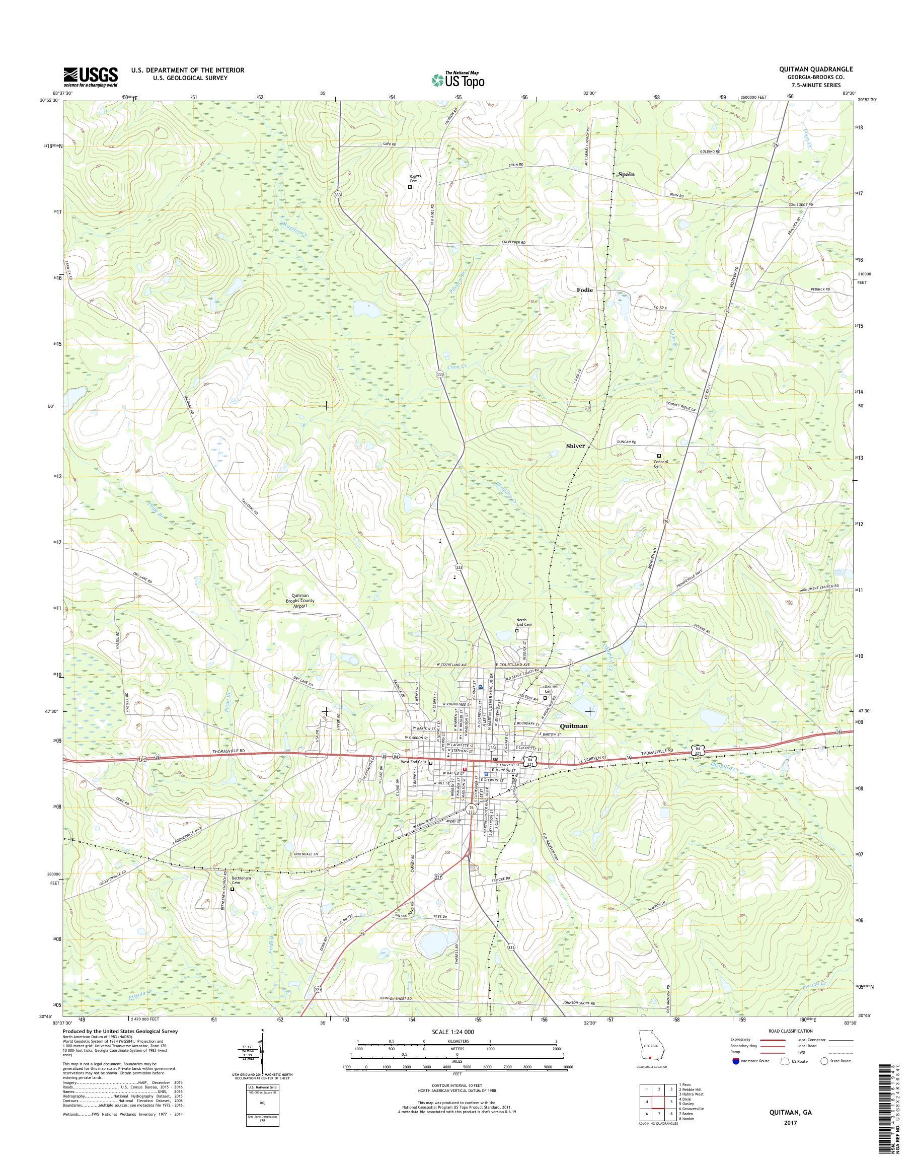 Map Of Quitman Georgia.Mytopo Quitman Georgia Usgs Quad Topo Map