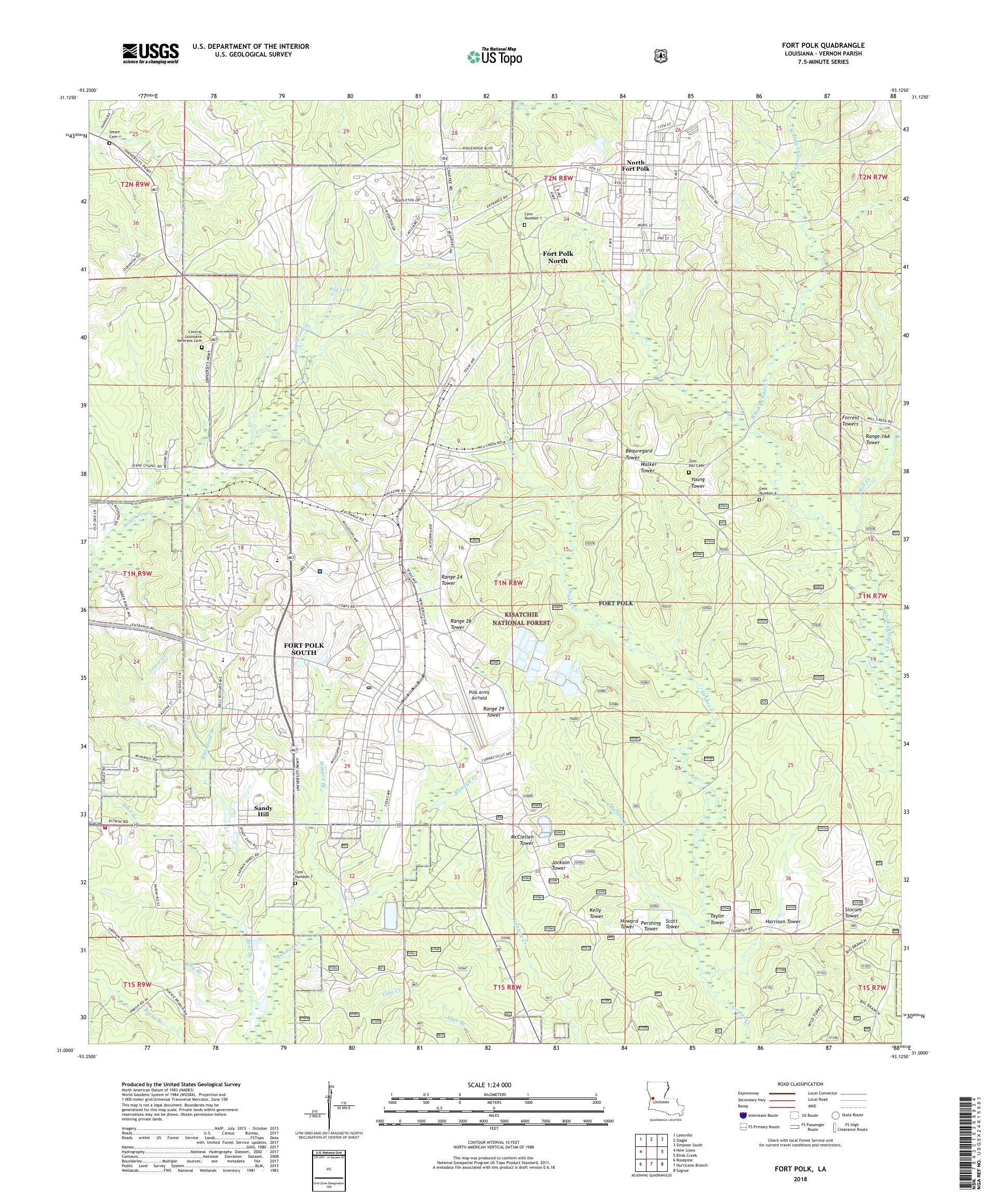 Fort Polk Louisiana Map MyTopo Fort Polk, Louisiana USGS Quad Topo Map