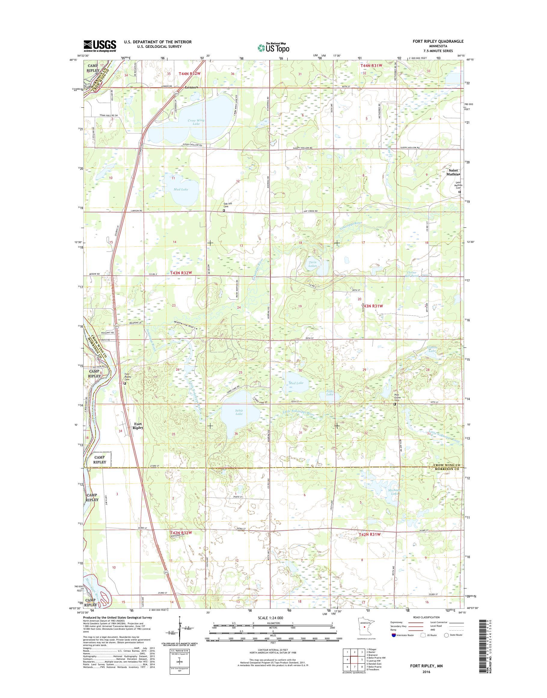 MyTopo Fort Ripley, Minnesota USGS Quad Topo Map on camp san luis obispo map, camp grayling map, fort bridger map, camp parsons map, camp ashland map, camp rapid map, camp coniston map, camp butner map,