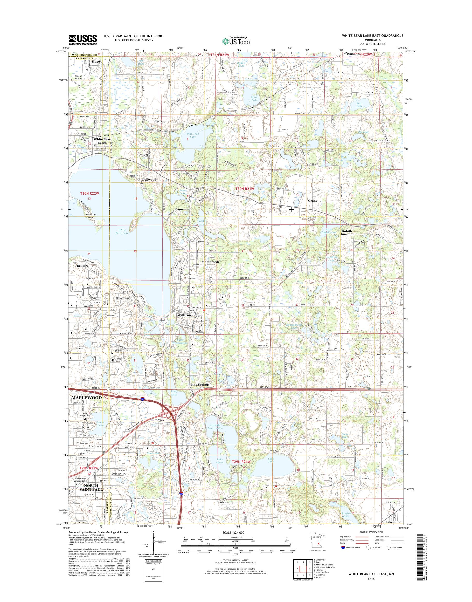 MyTopo White Bear Lake East, Minnesota USGS Quad Topo Map on lake contour maps, dnr lake maps, hume lake california hunting maps, texoma topography maps, national geographic maps, aerial lake maps, satellite lake maps, europe lake maps, tennessee river navigation chart maps, campground site maps, gps lake maps, navionics lake maps, usgs lake maps, best 2014 lake fork tx maps,