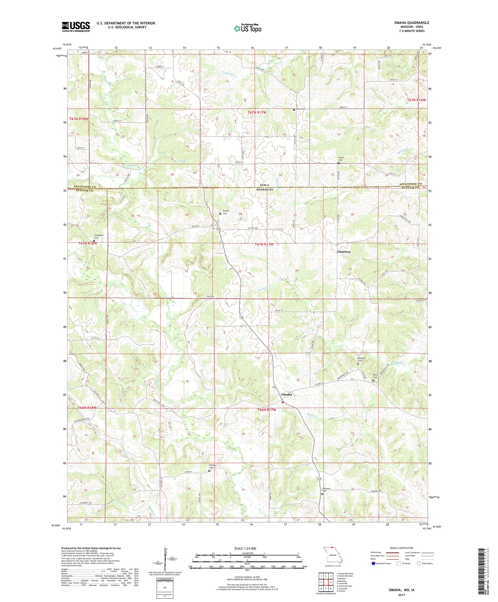 Mytopo Omaha Missouri Usgs Quad Topo Map - Omaha-on-us-map