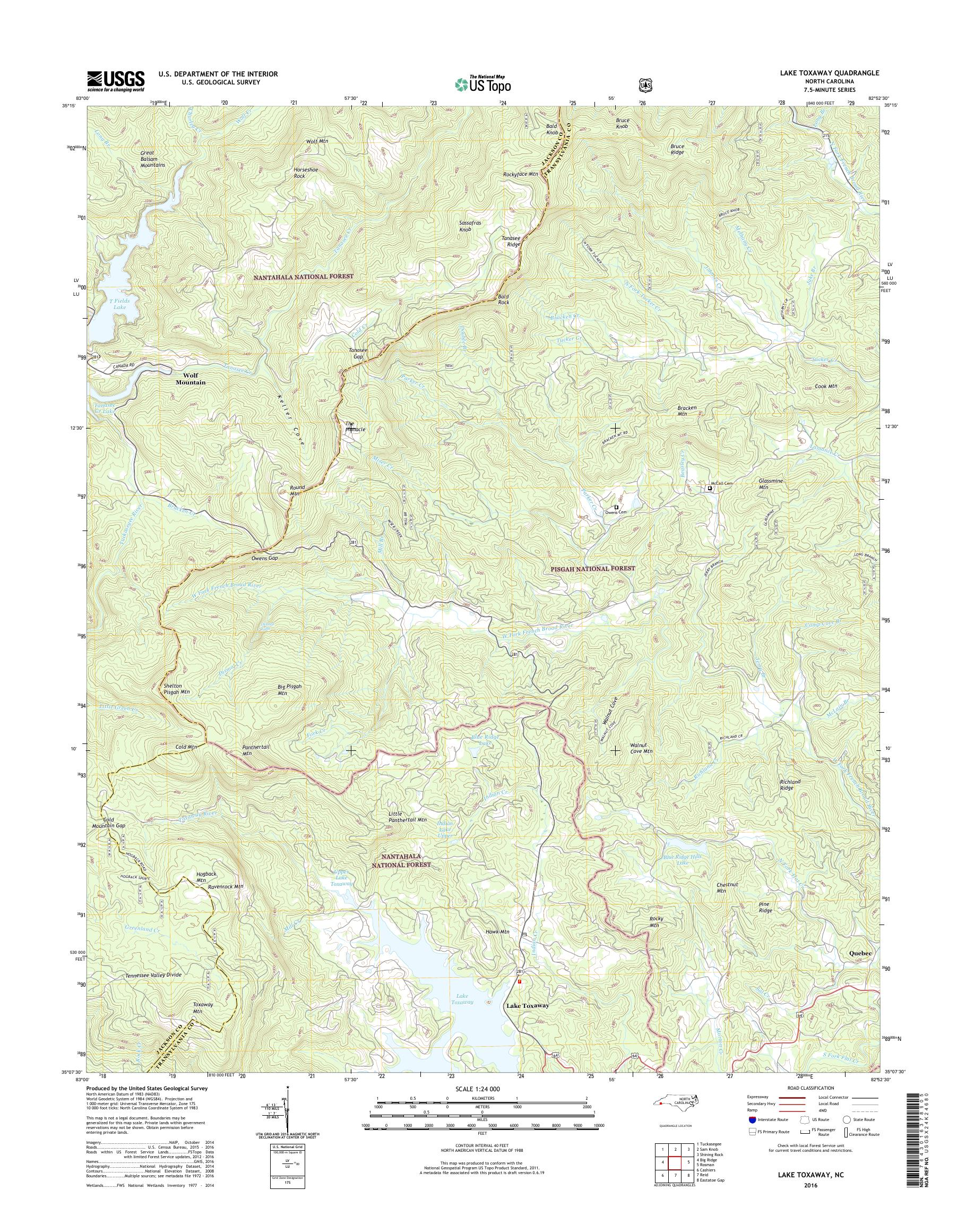lake toxaway nc map Mytopo Lake Toxaway North Carolina Usgs Quad Topo Map lake toxaway nc map