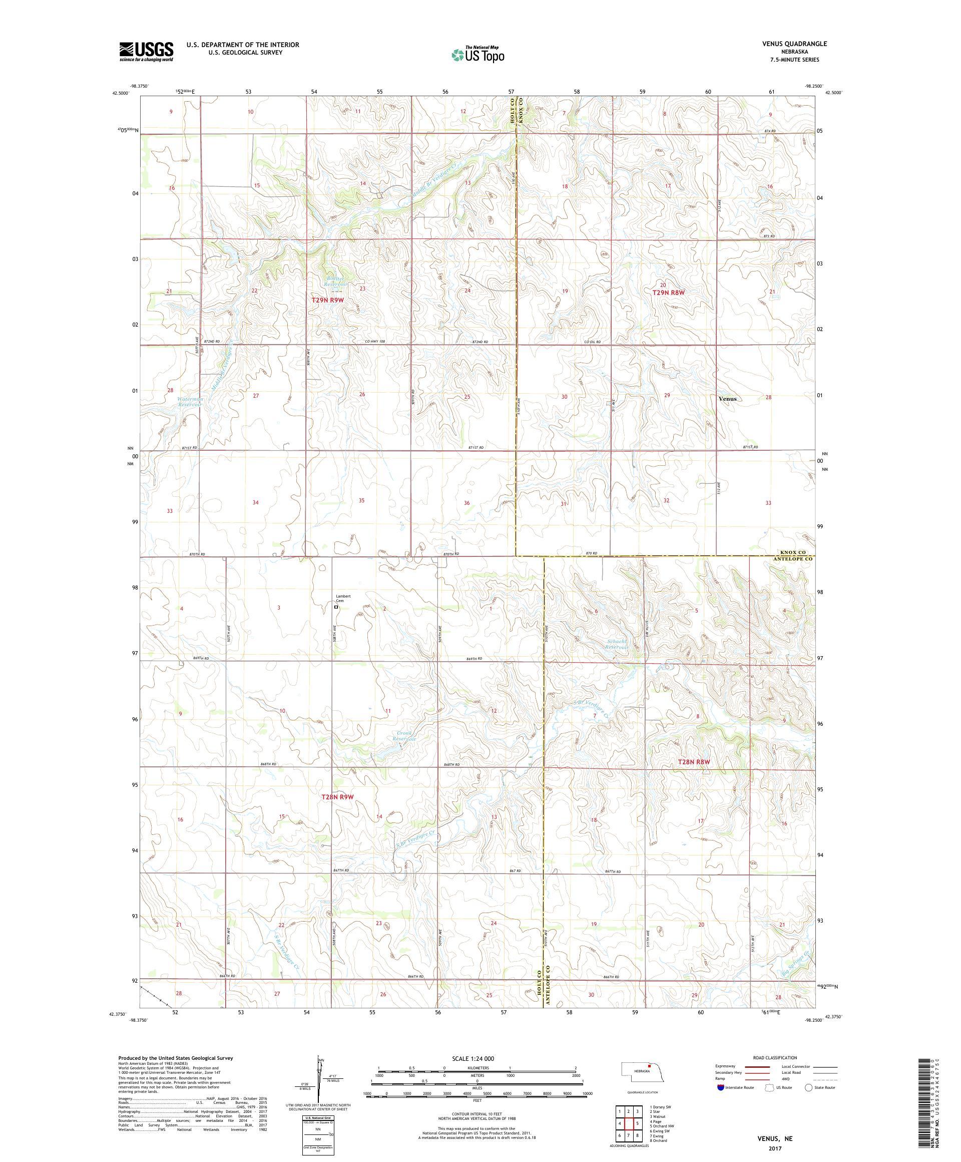 MyTopo Venus, Neska USGS Quad Topo Map on