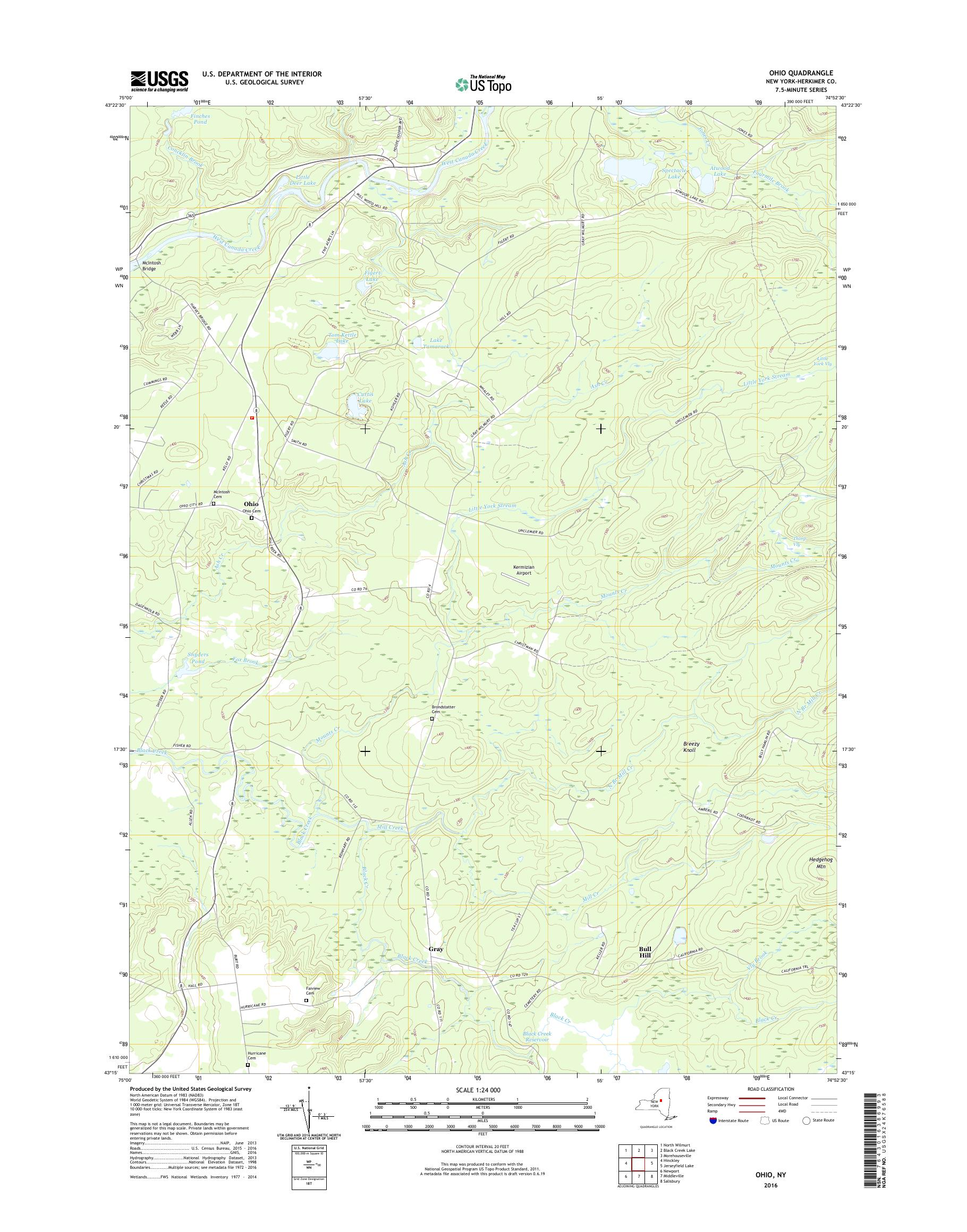 Map Of New York And Ohio.Mytopo Ohio New York Usgs Quad Topo Map