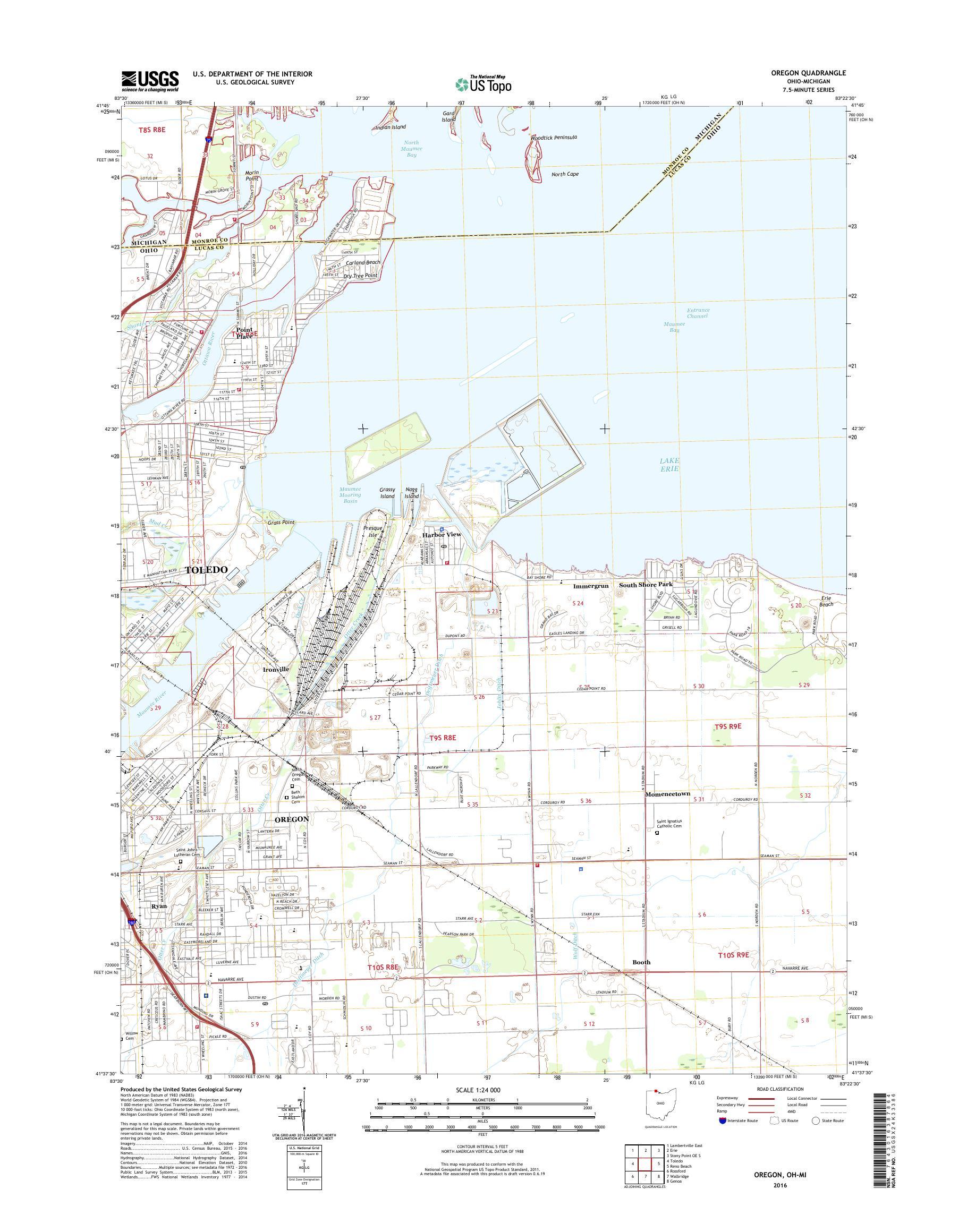 Mytopo Oregon Ohio Usgs Quad Topo Map