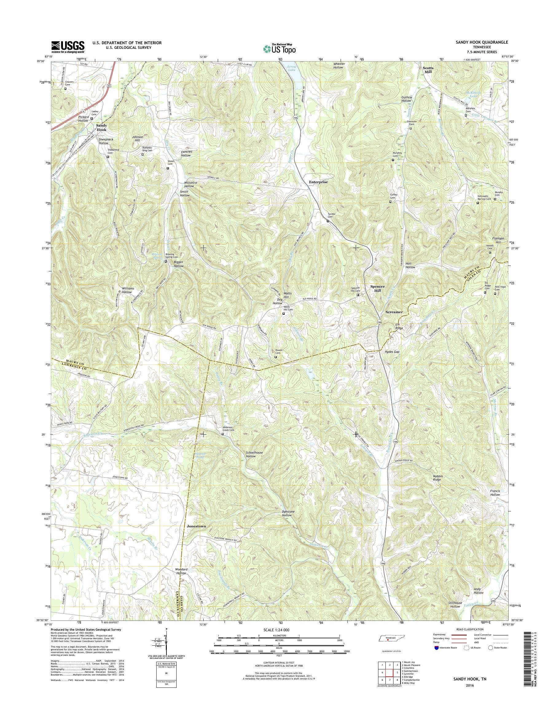MyTopo Sandy Hook, Tennessee USGS Quad Topo Map on newtown conn map, watertown map, fairfield map, avalon map, jacob riis park map, beach haven map, westport map, white plains map, prospect map, cherry hill map, long branch map, newtown connecticut map, albany map, essex map, new castle map, bloomfield college map, milford map, tuckerton seaport map, roxbury map, woodstock map,