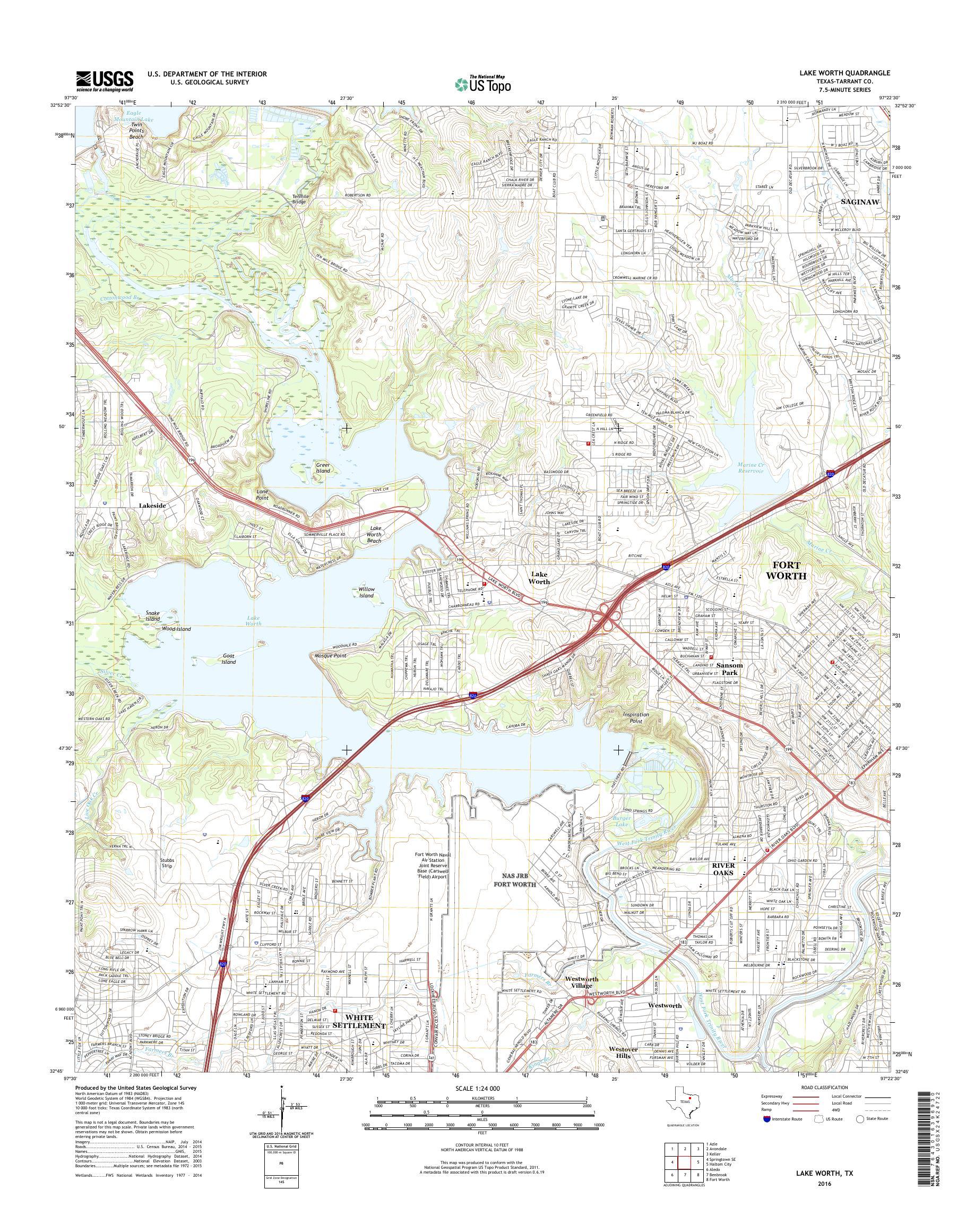 map of lake worth tx Mytopo Lake Worth Texas Usgs Quad Topo Map map of lake worth tx