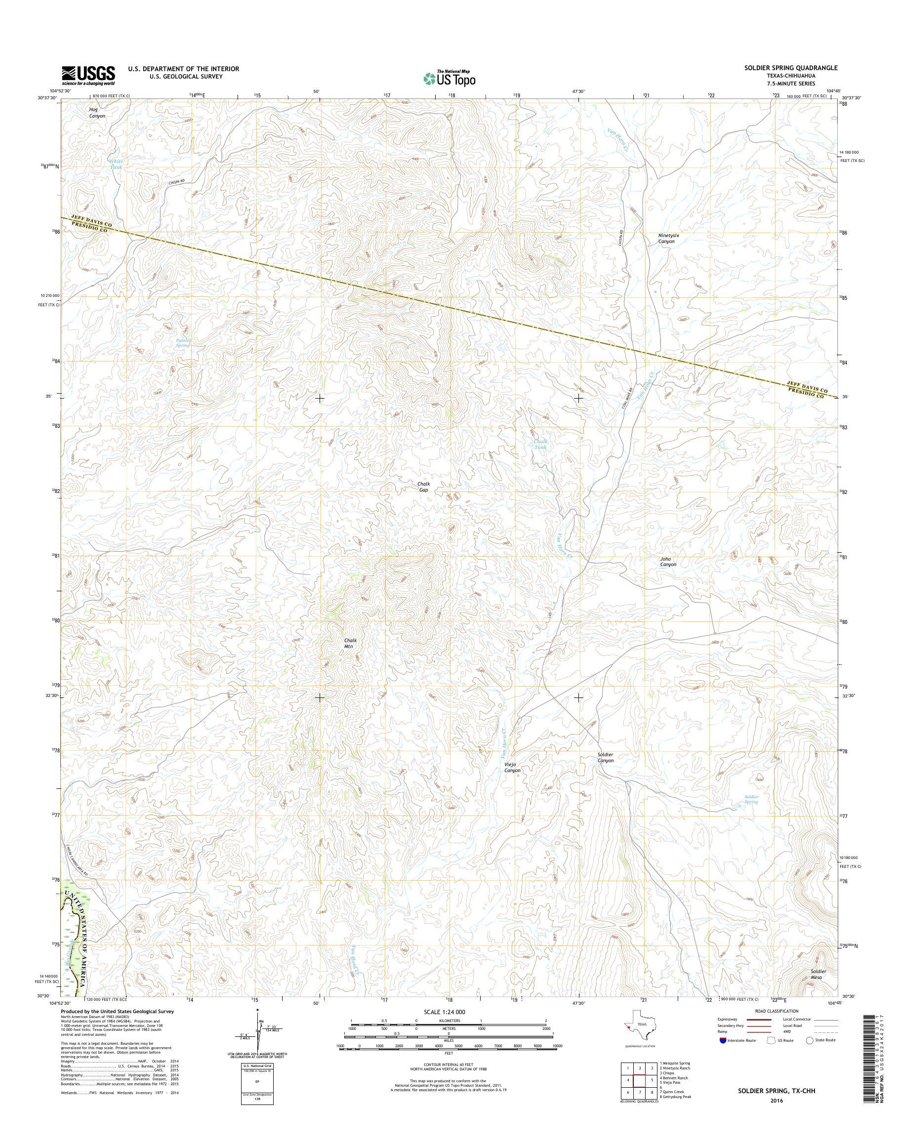 Mytopo Soldier Spring Texas Usgs Quad Topo Map