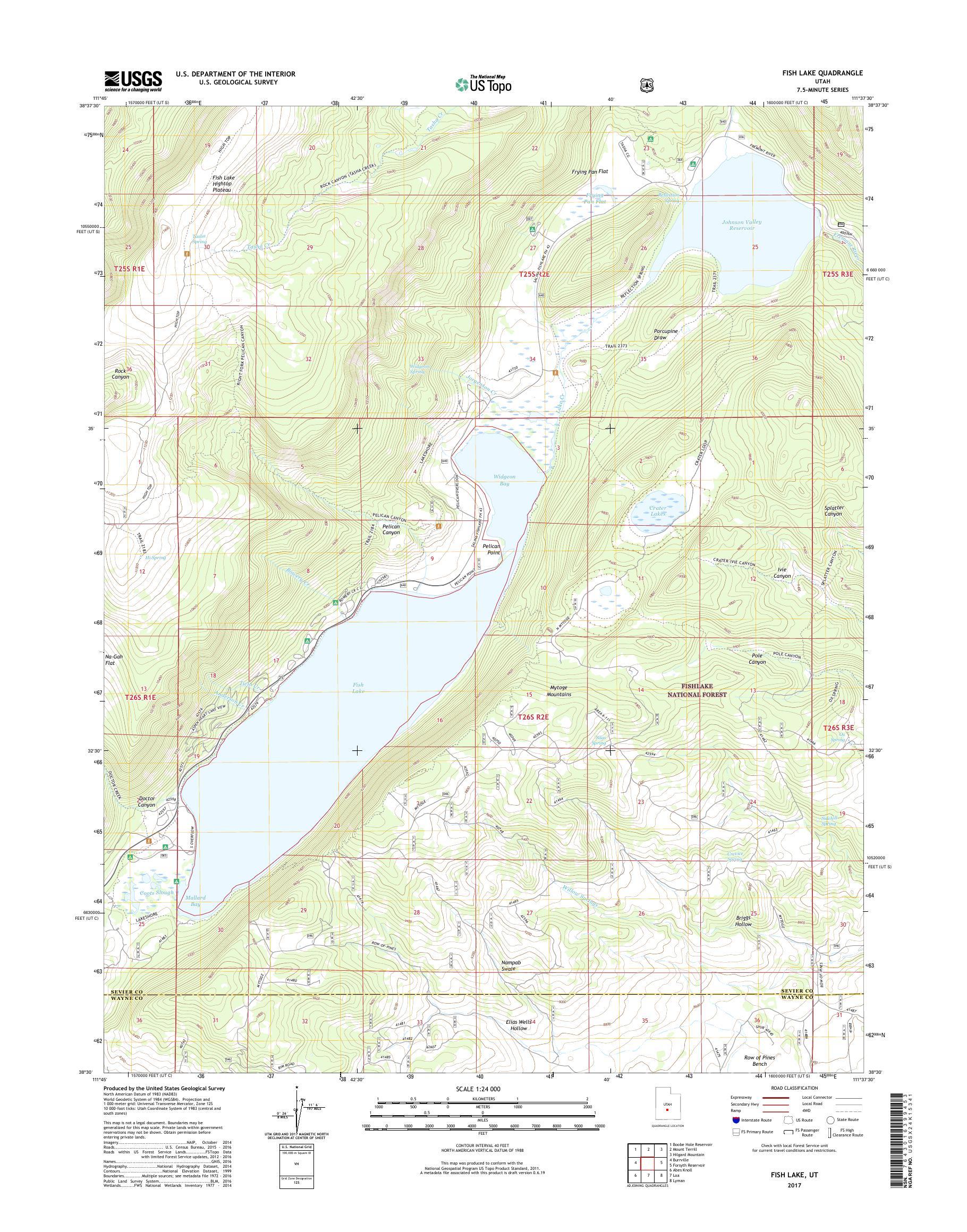 MyTopo Fish Lake, Utah USGS Quad Topo Map on 15 freeway map, i 15 california map, i 15 idaho map, i-15 south map, i 15 mile marker map,