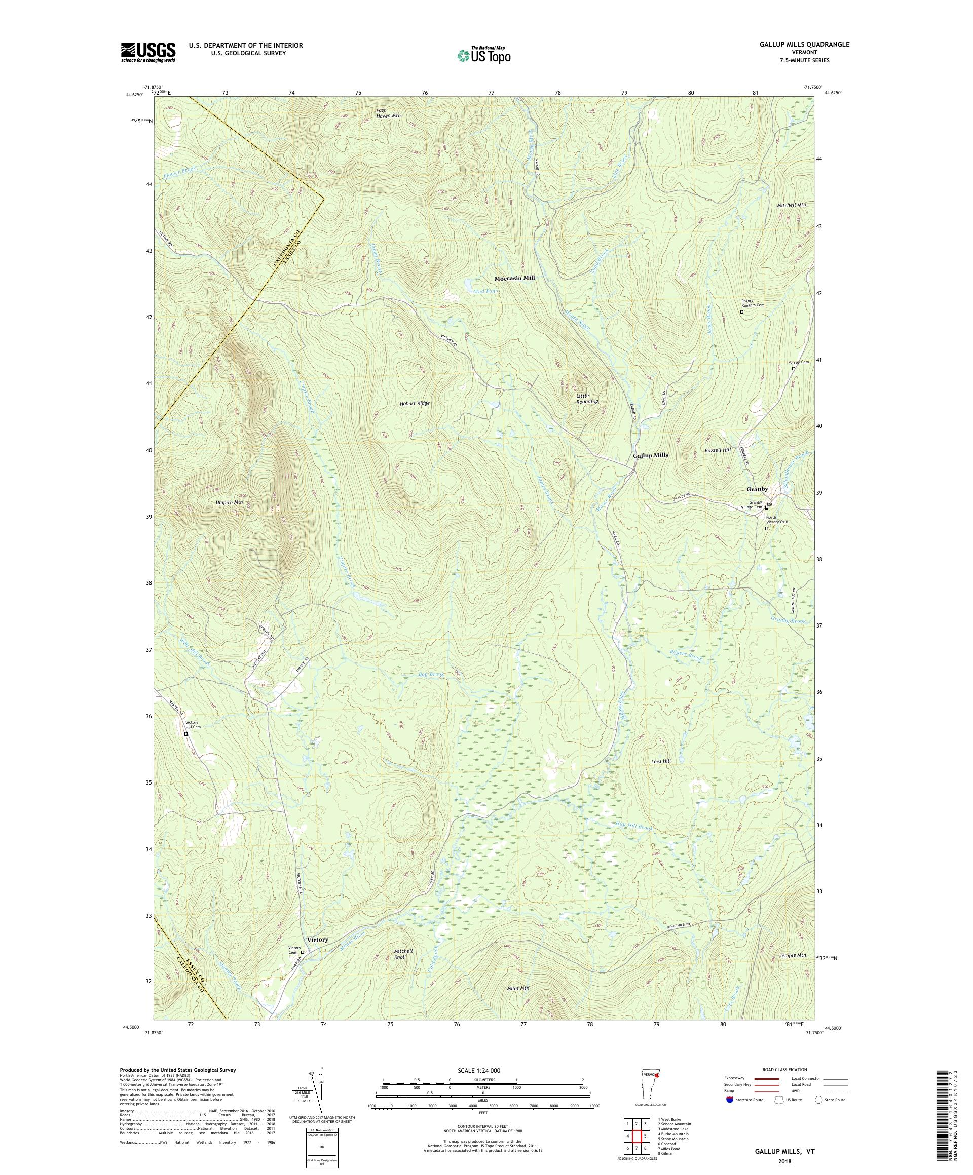 Mytopo Gallup Mills Vermont Usgs Quad Topo Map - Map-of-us-paper-mills