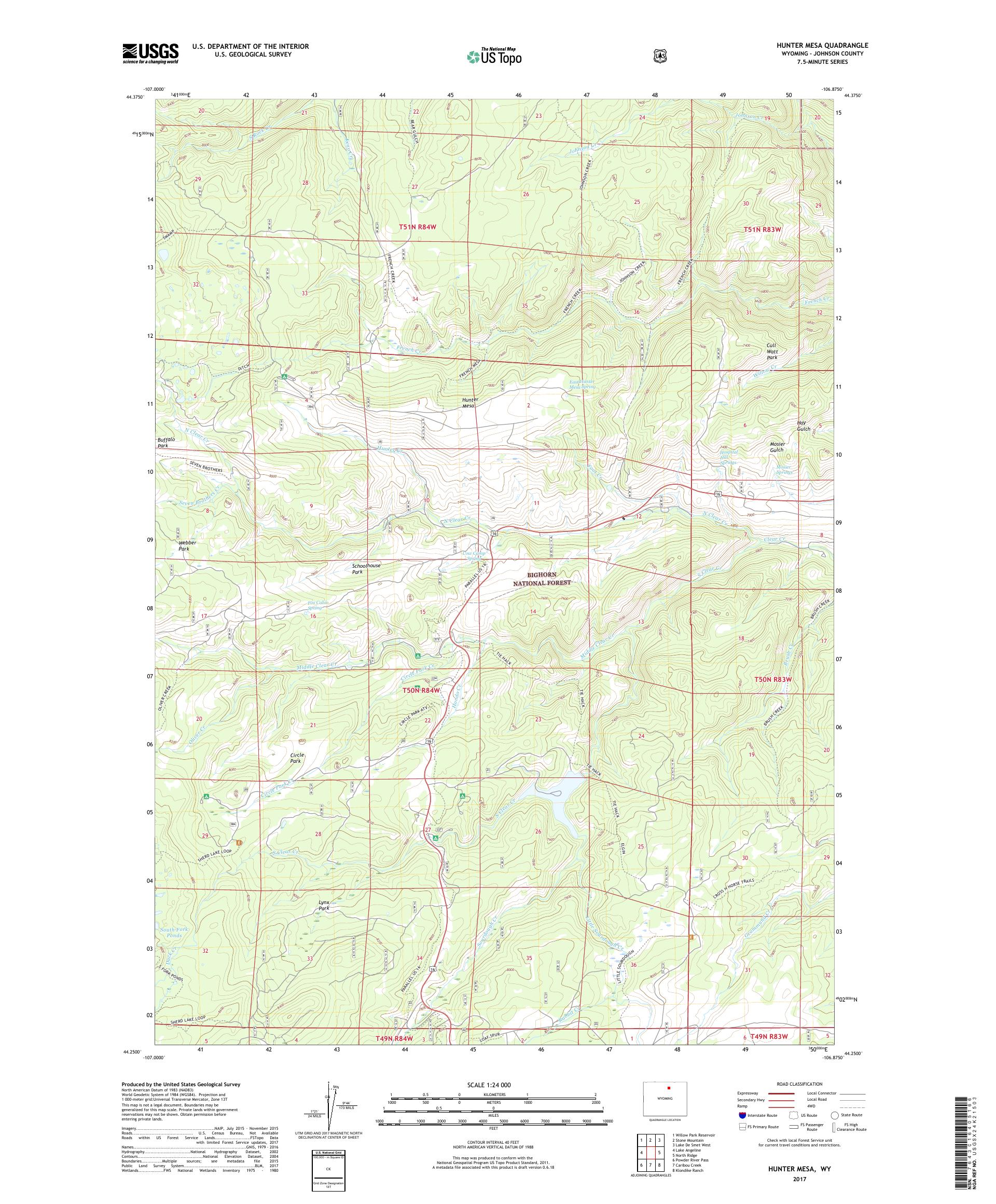 MyTopo Hunter Mesa, Wyoming USGS Quad Topo Map on map dallas, map wings, map navy,