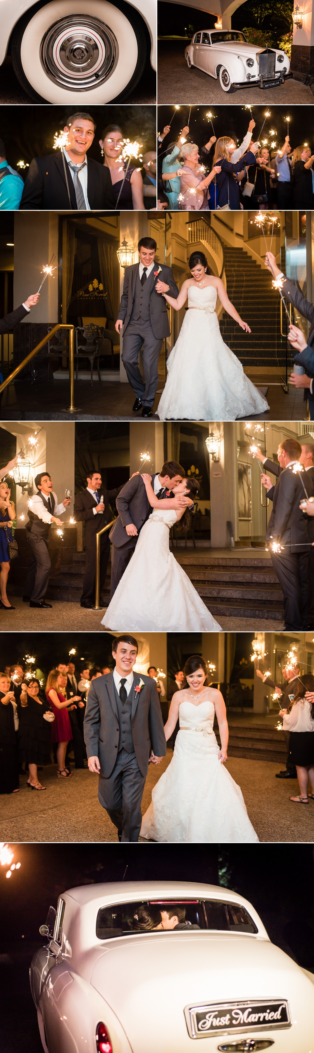 Pine Forest Country Club Wedding Exit