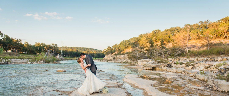 Jennifer & Corey Montesino Ranch Wedding Rive Sunset Picture
