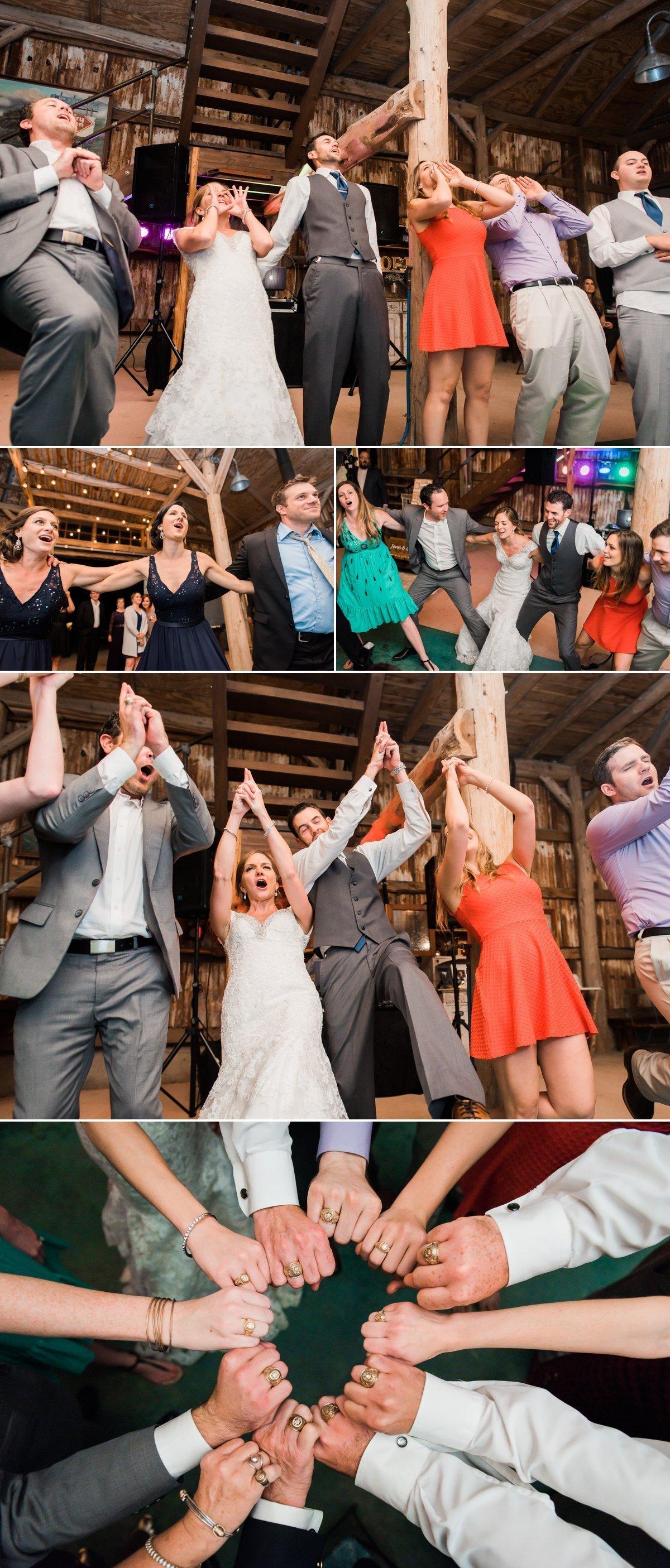 Montesino Ranch Wedding Reception Aggie War Hymn