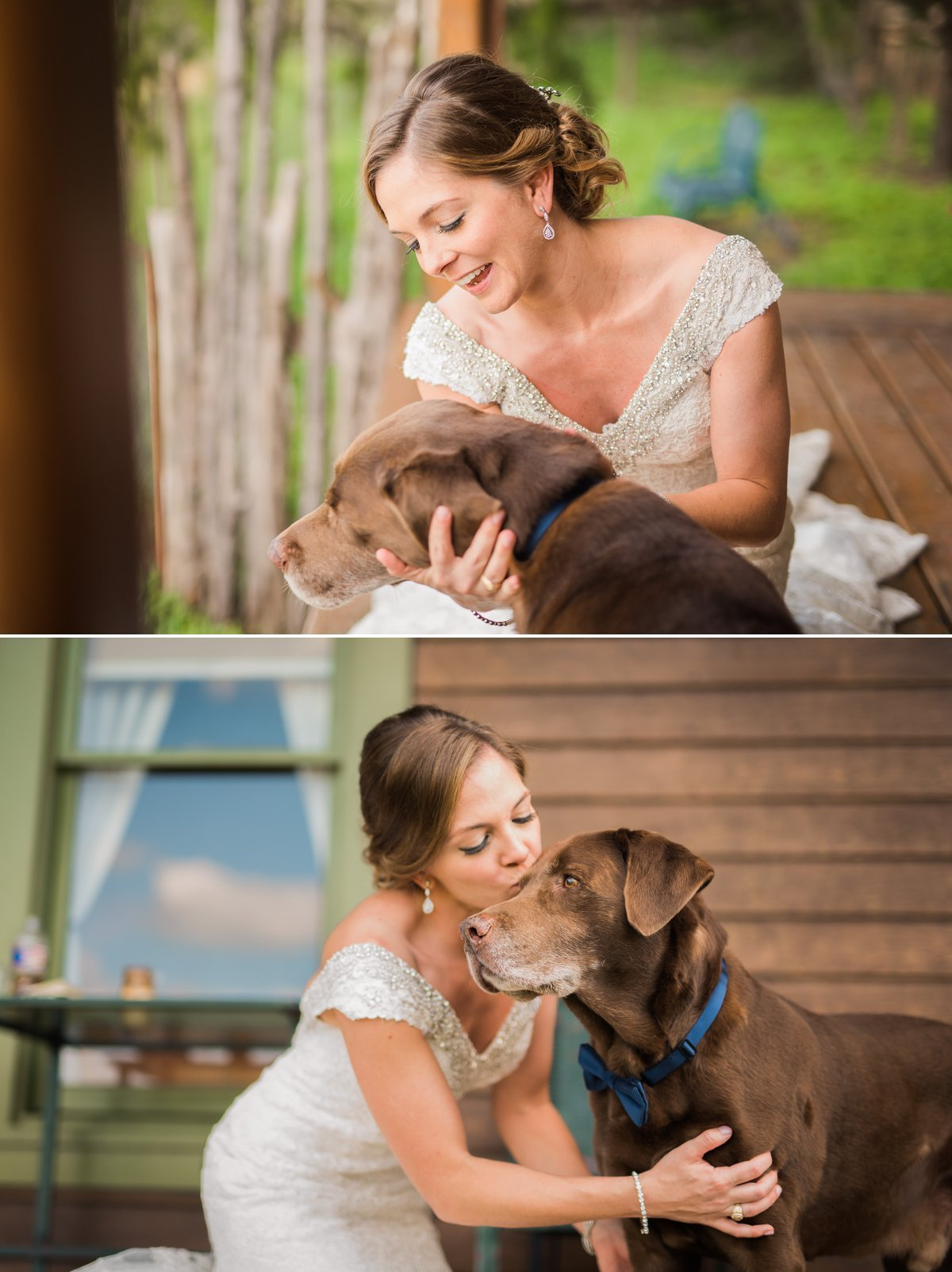 Montesino Ranch Wedding bride and her dog