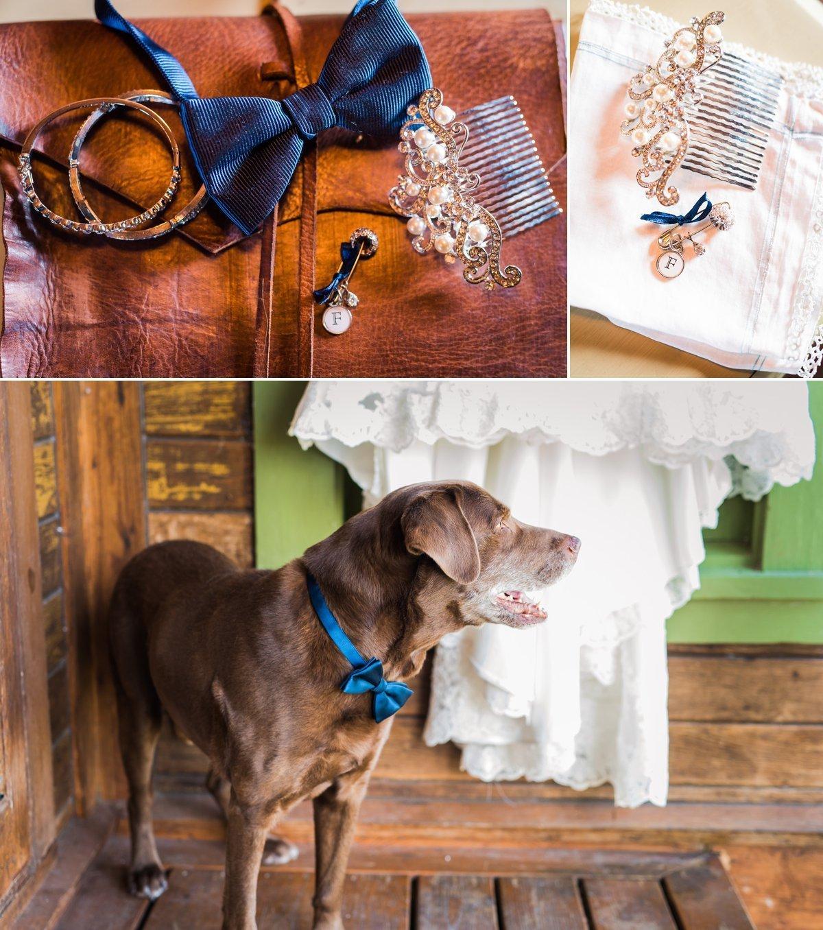 Montesino Ranch Wedding details with dog