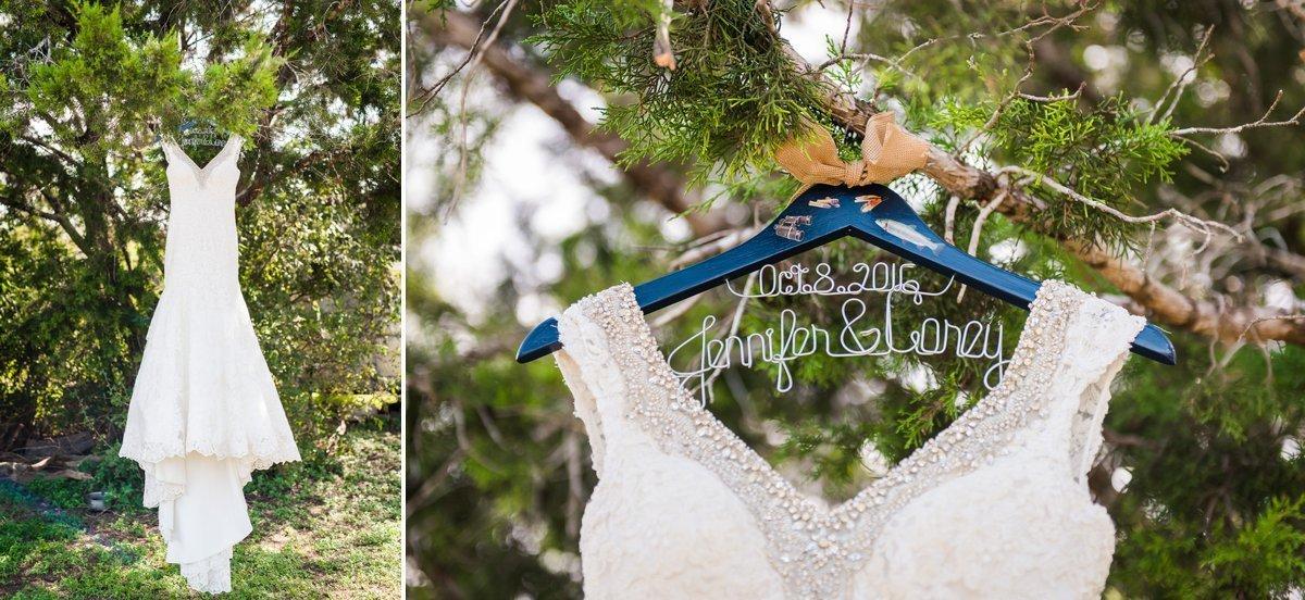 Montesino Ranch Wedding brides dress shot