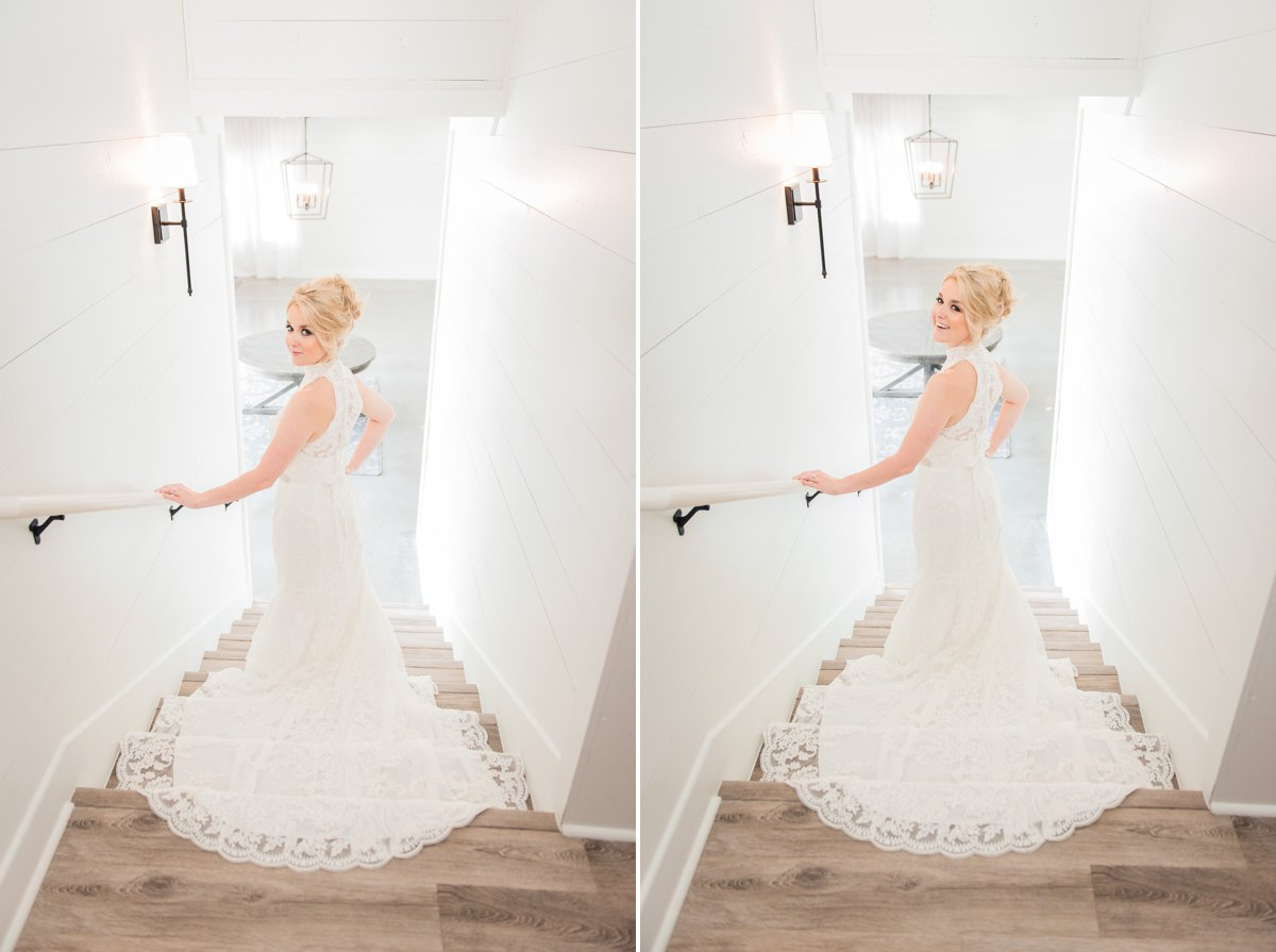 White Shiplap Walls The Farmhouse Bridal Portraits
