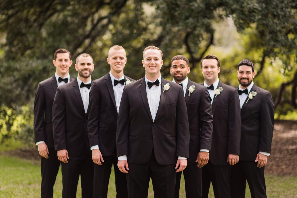 Houstonian Hotel Wedding Groomsmen