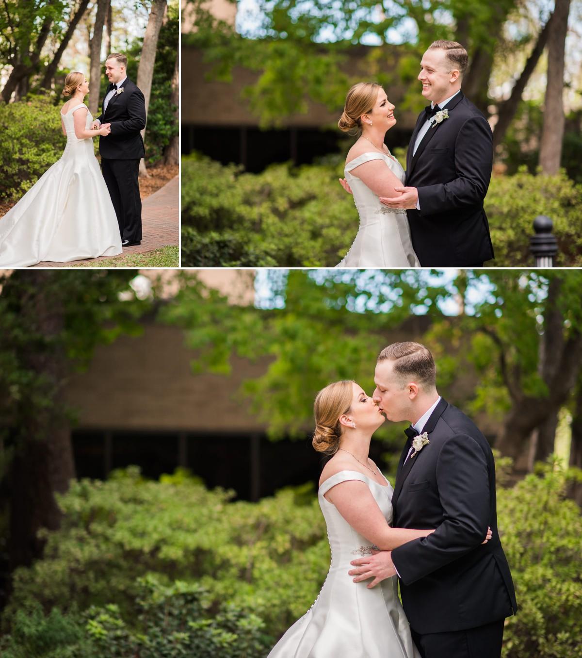 Houstonian Hotel Wedding First Look Bride and Groom