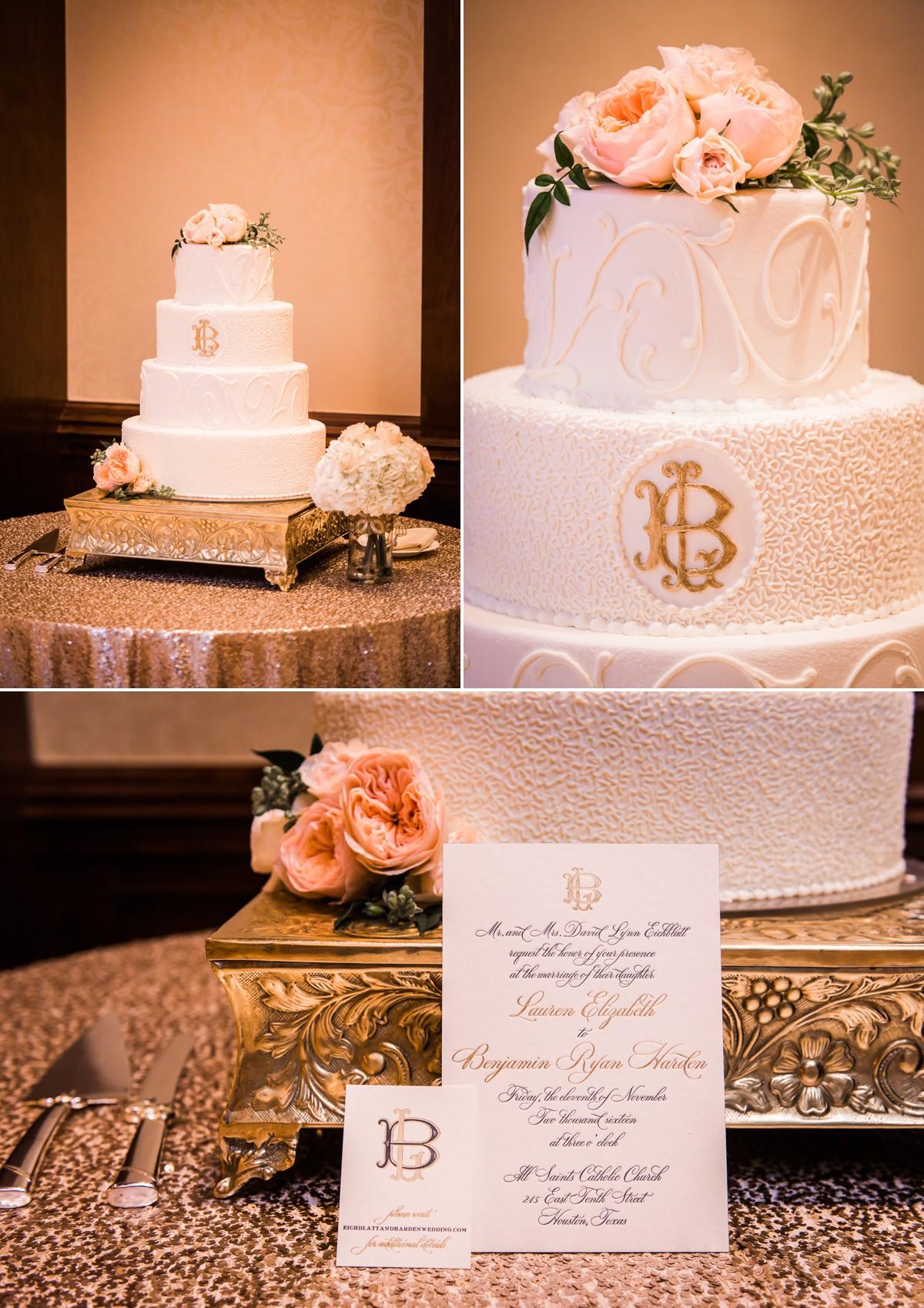 Lauren & Ben Wedding Cake & Card Photo