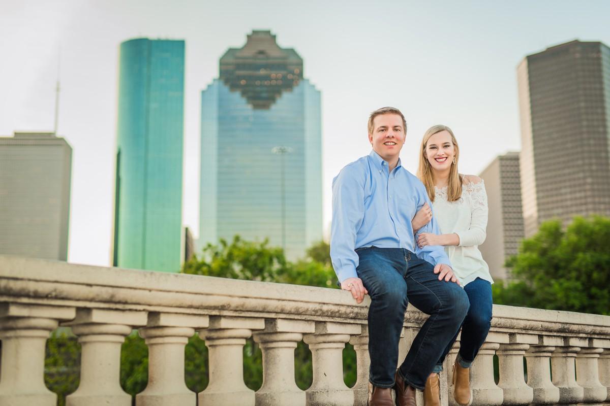 Engagement Photography Houston at Sabine Street Bridge
