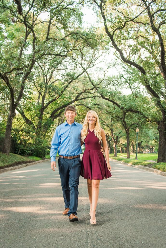 Hermann Park Engagement Photos in Houston, TX
