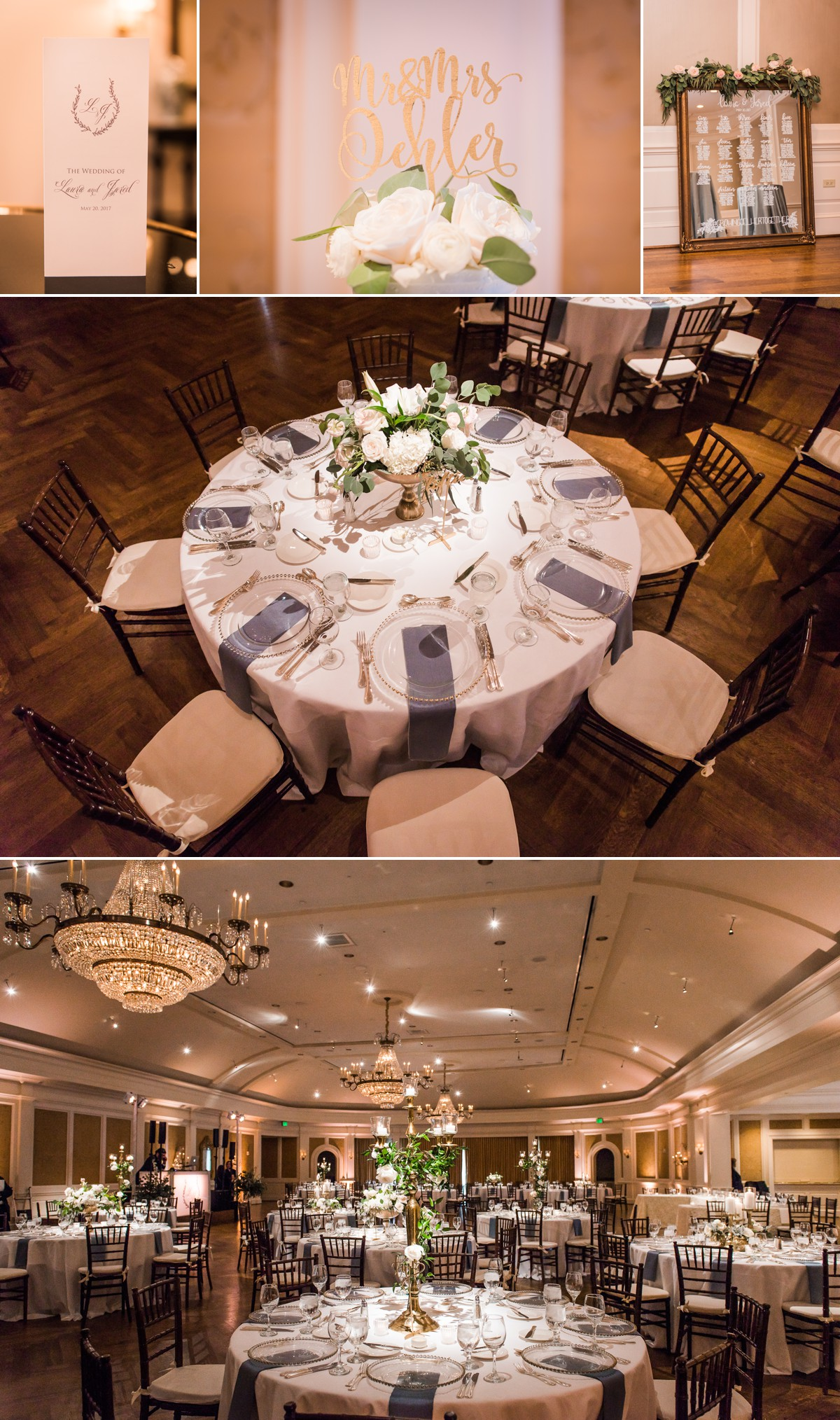 River Oaks Country Club Wedding Dinning hall
