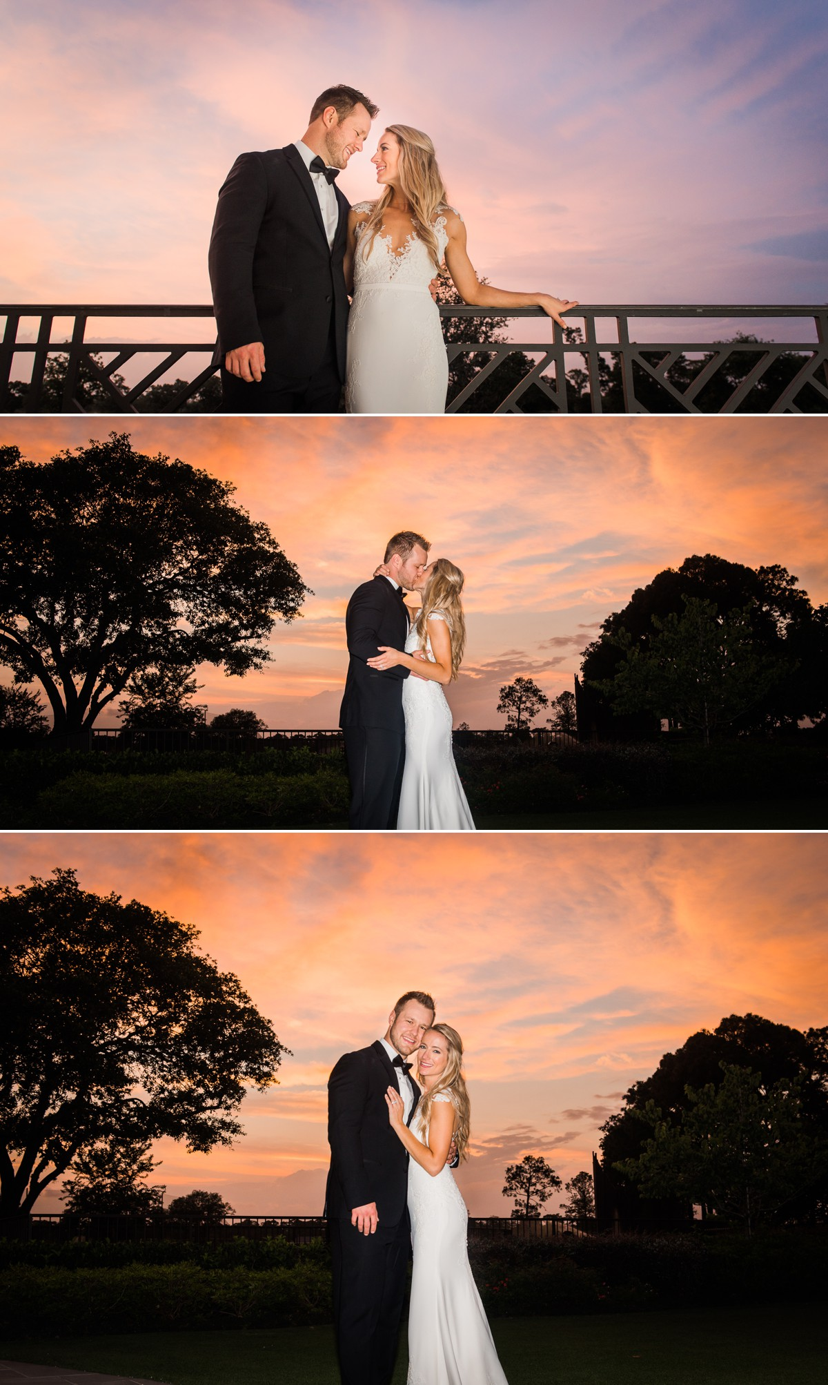 Beautiful Evening Session Wedding phots of Laura & Jared