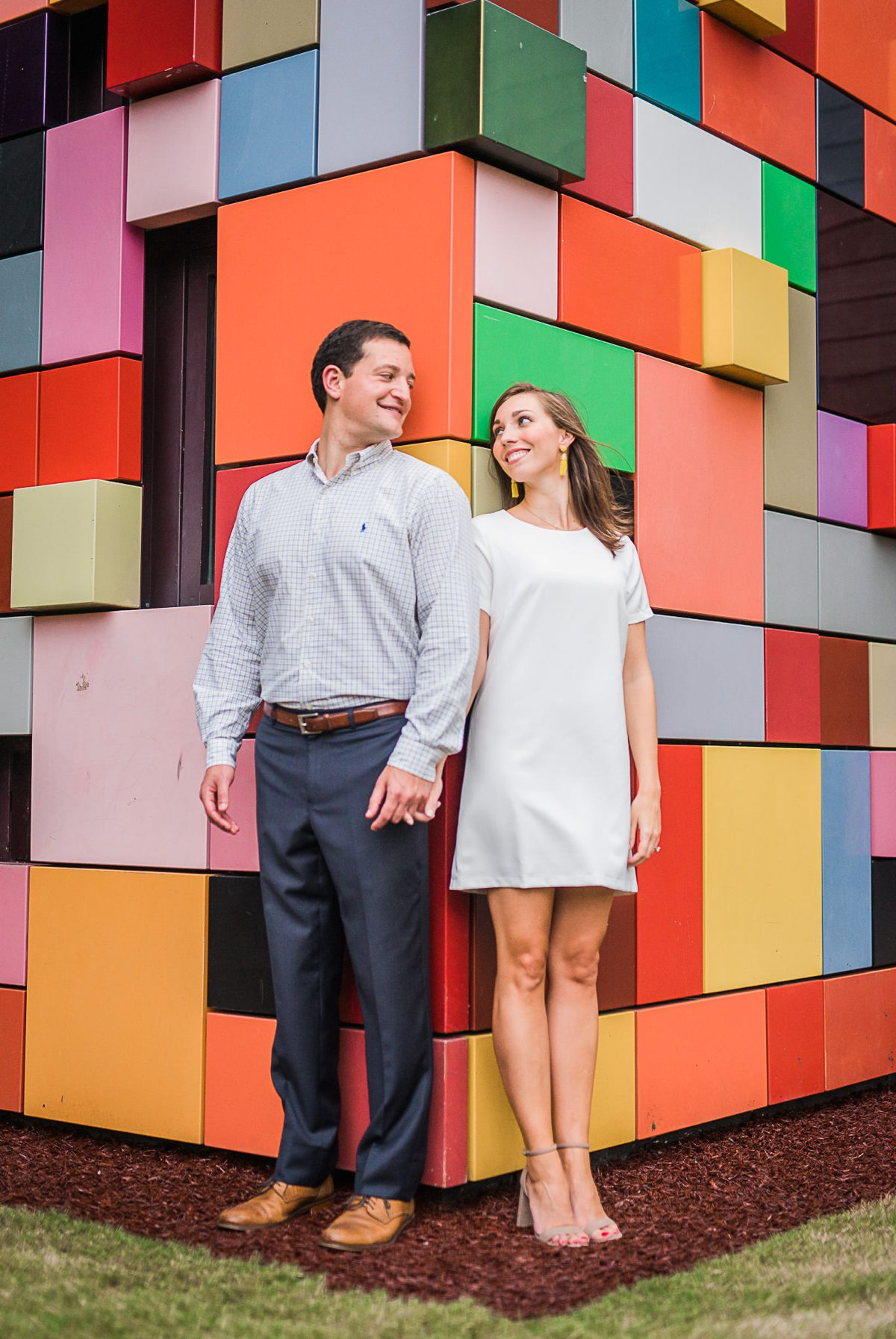 Colorful Discovery Green Engagement Photos of Ashley & Steven