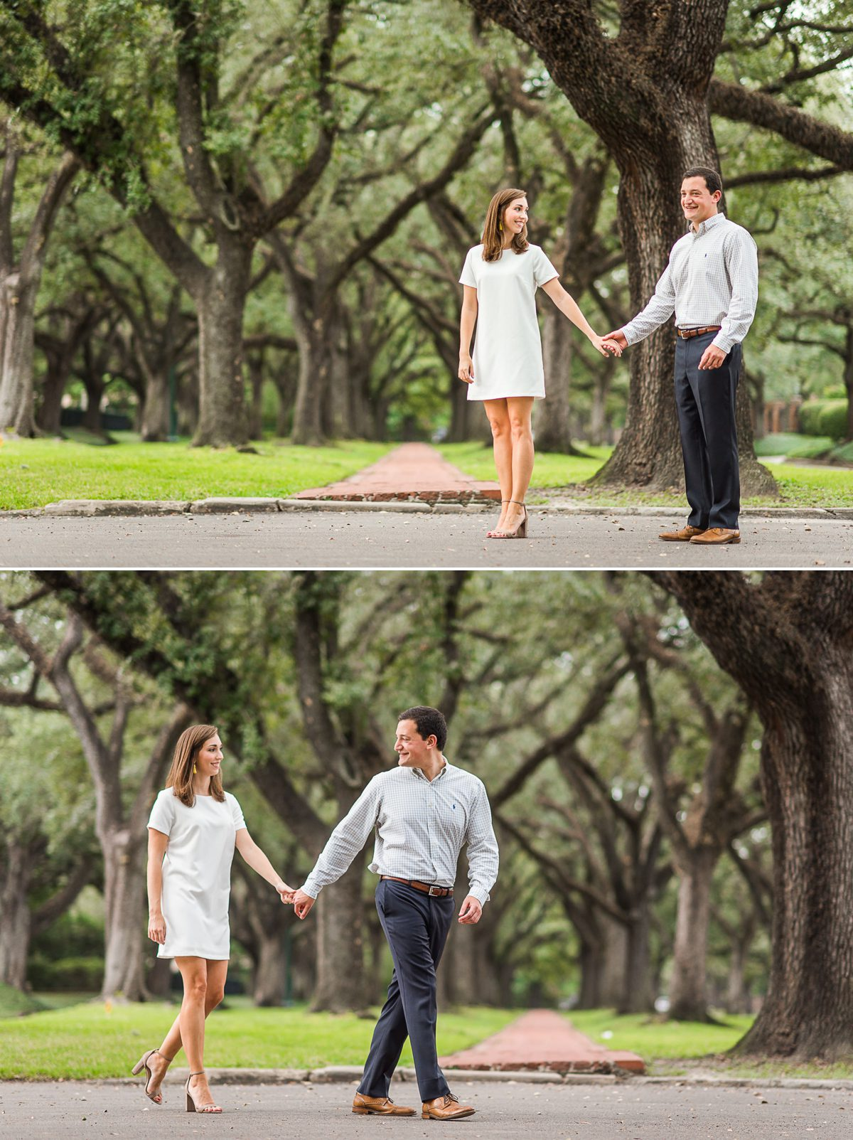 Green Engagement Photos of Ashley & Steven