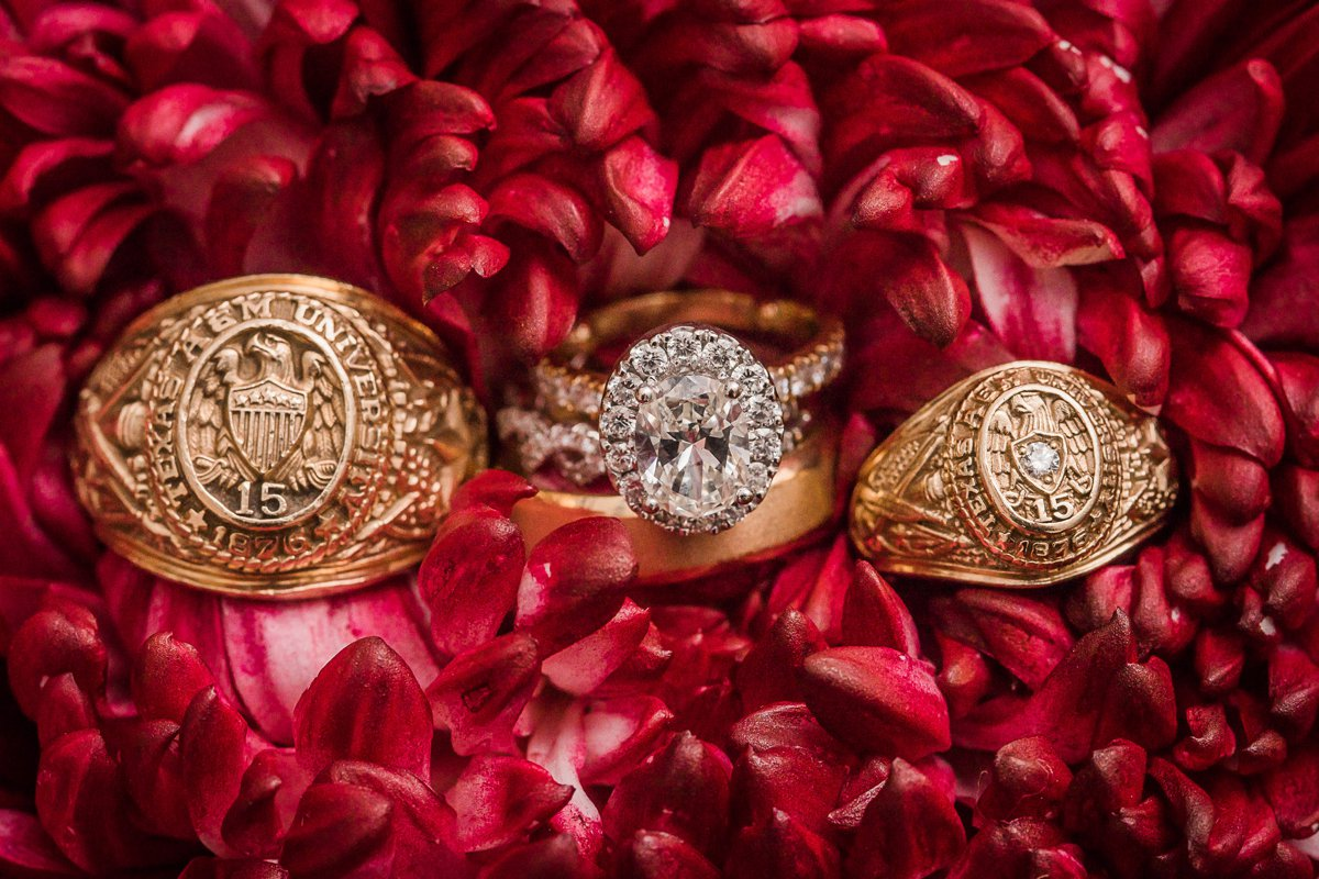 The Farmhouse Wedding Houston Aggie Wedding Rings