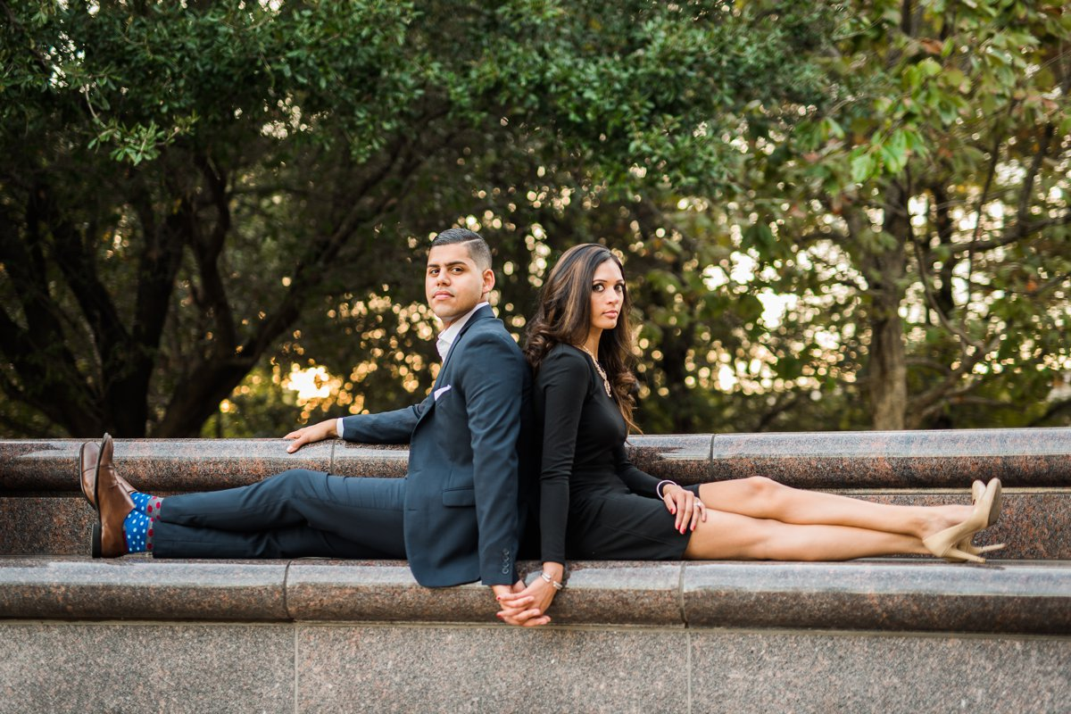 Classy Engagement Portraits Houston