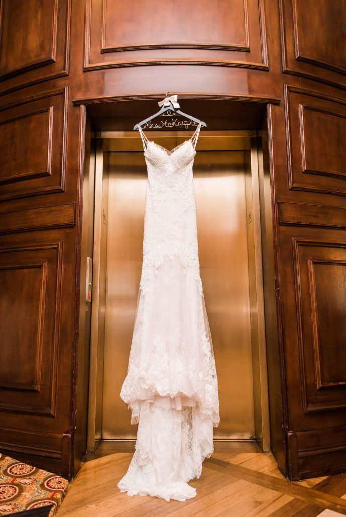 Manor House Wedding at The Houstonian Hotel Wedding Dress