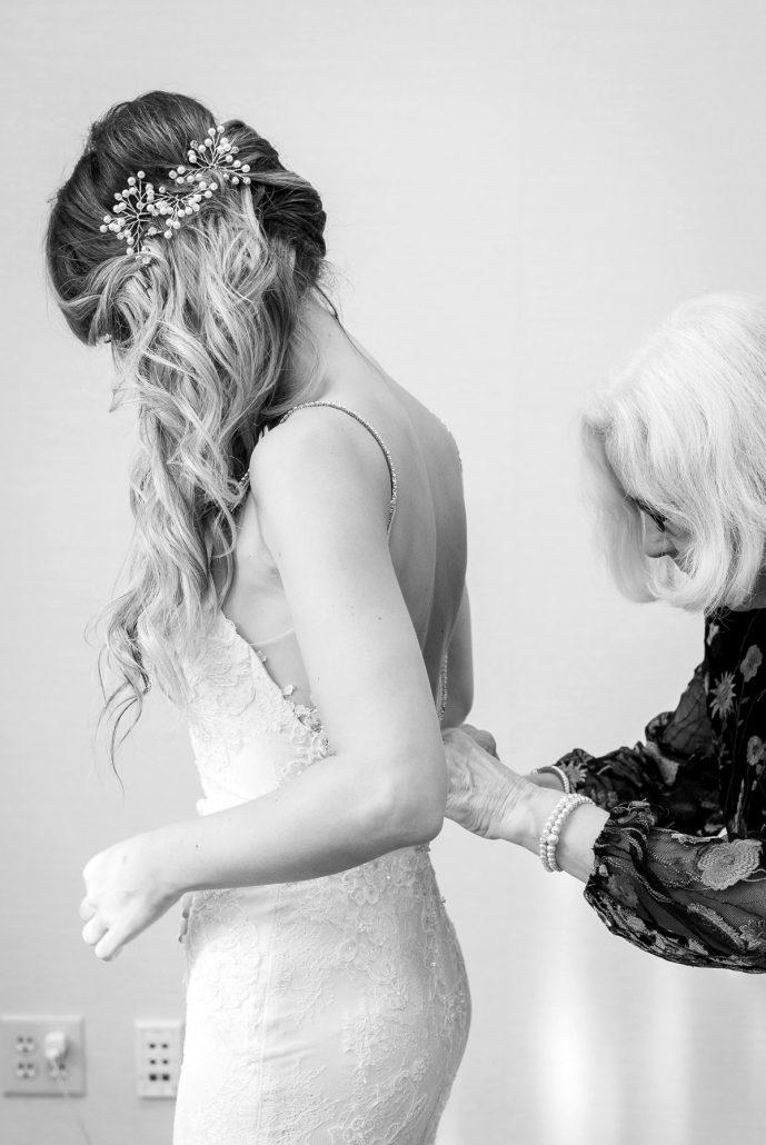 Manor House Wedding at The Houstonian Hotel Wedding Dress details