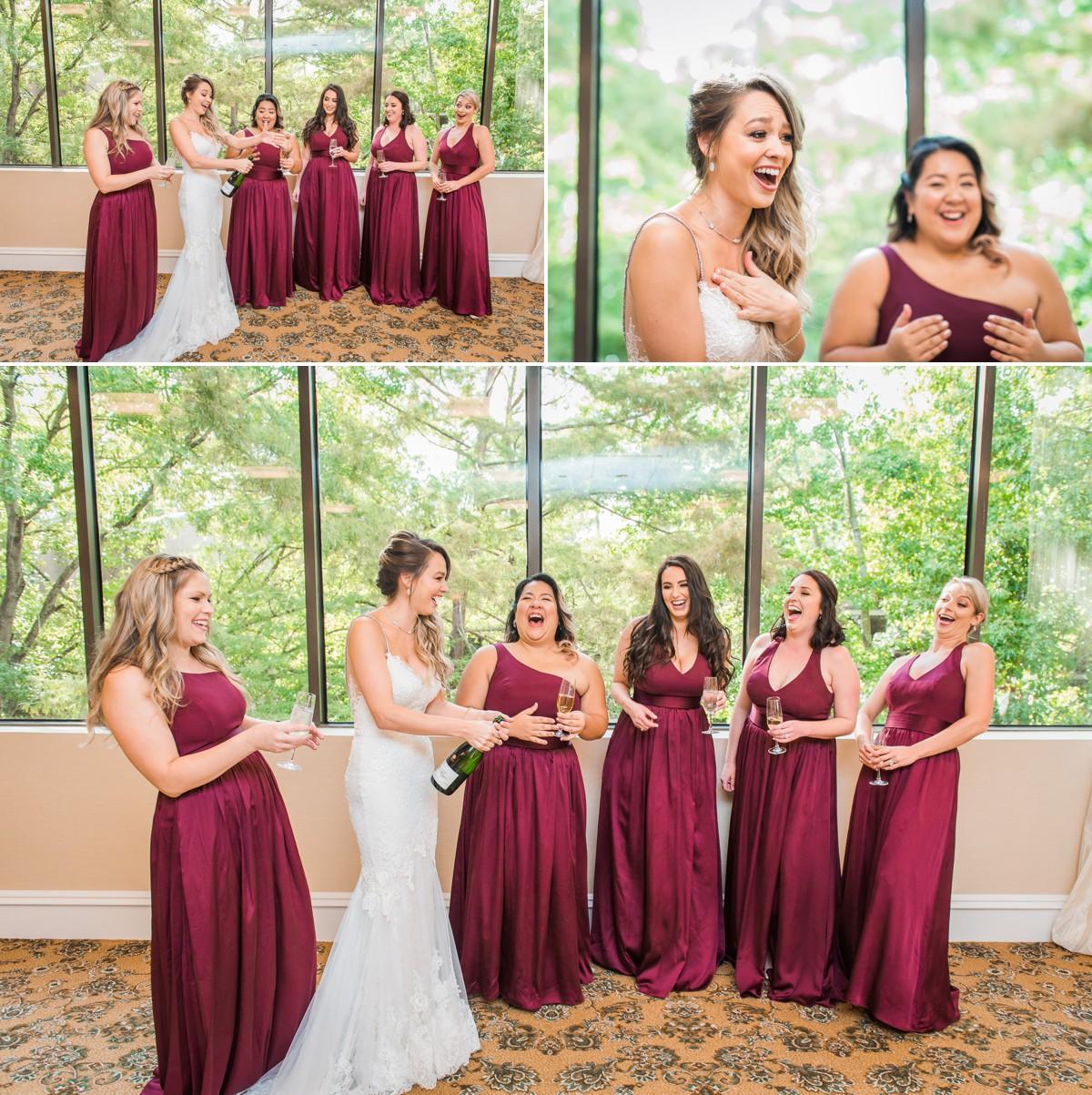 Manor House Wedding at The Houstonian Hotel Bridesmaids toast