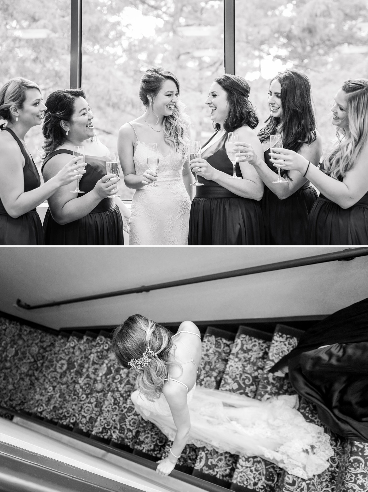 Manor House Wedding at The Houstonian Hotel Bridesmaids toast hotel