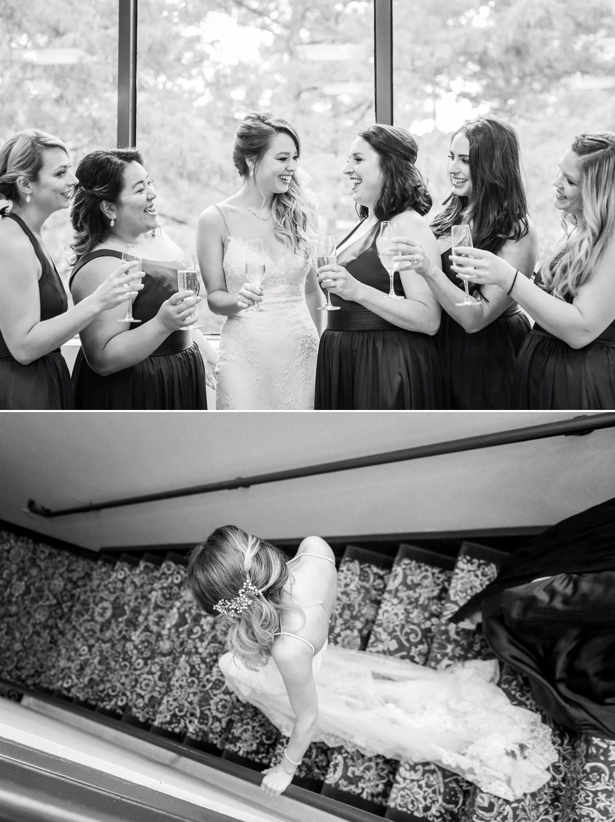 Manor House Wedding at The Houstonian Hotel Bridesmaids toast hotel