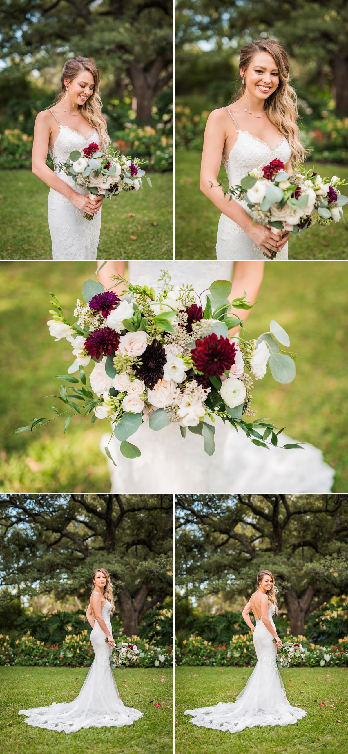Manor House Wedding at The Houstonian Hotel Bridal Portraits Flowers