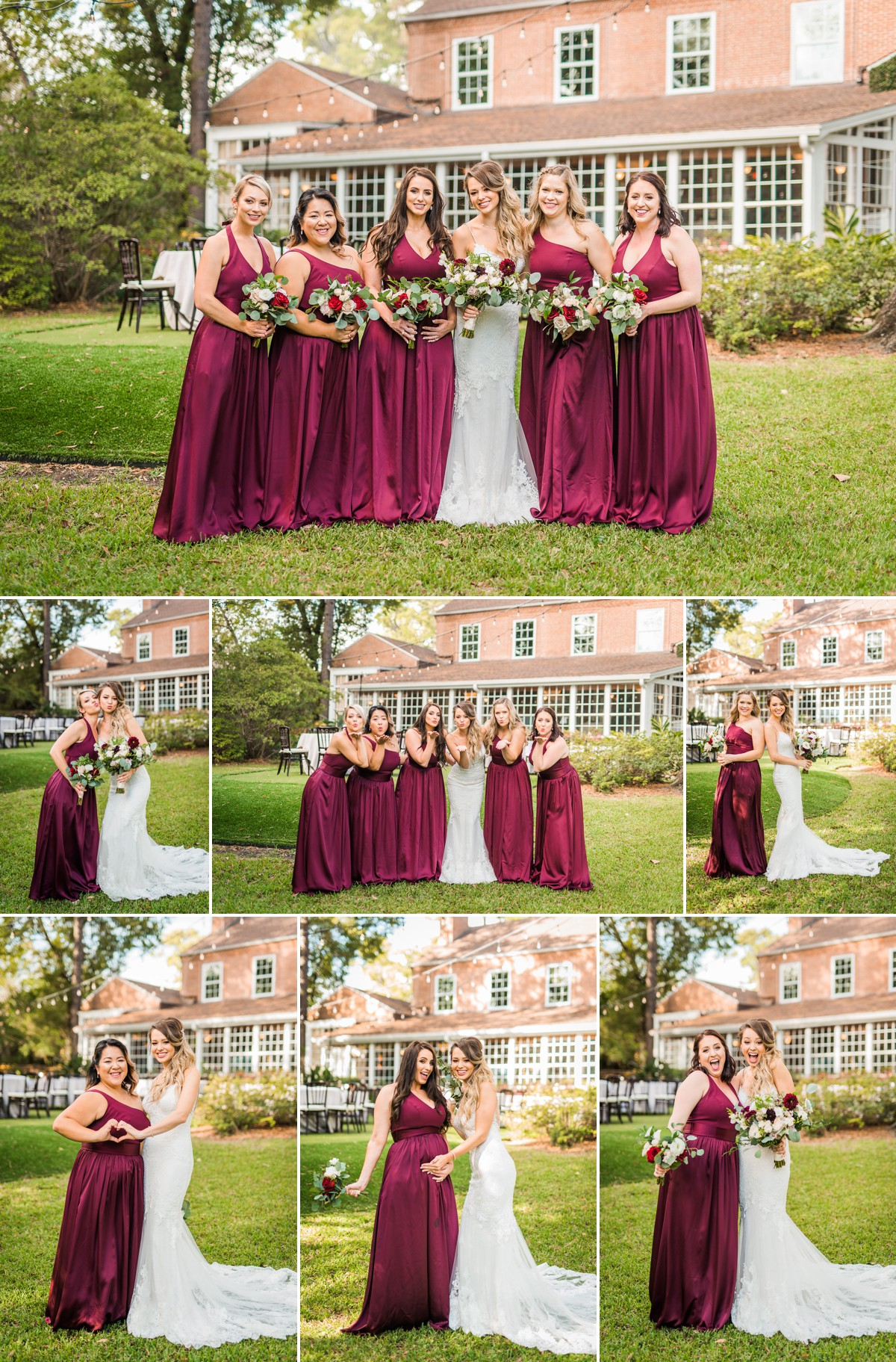 Manor House Wedding at The Houstonian Hotel Bridal Party Bridesmaids