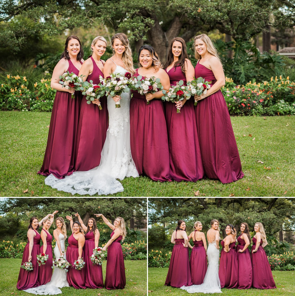 Manor House Wedding at The Houstonian Hotel Bridesmaids outdoor portraits