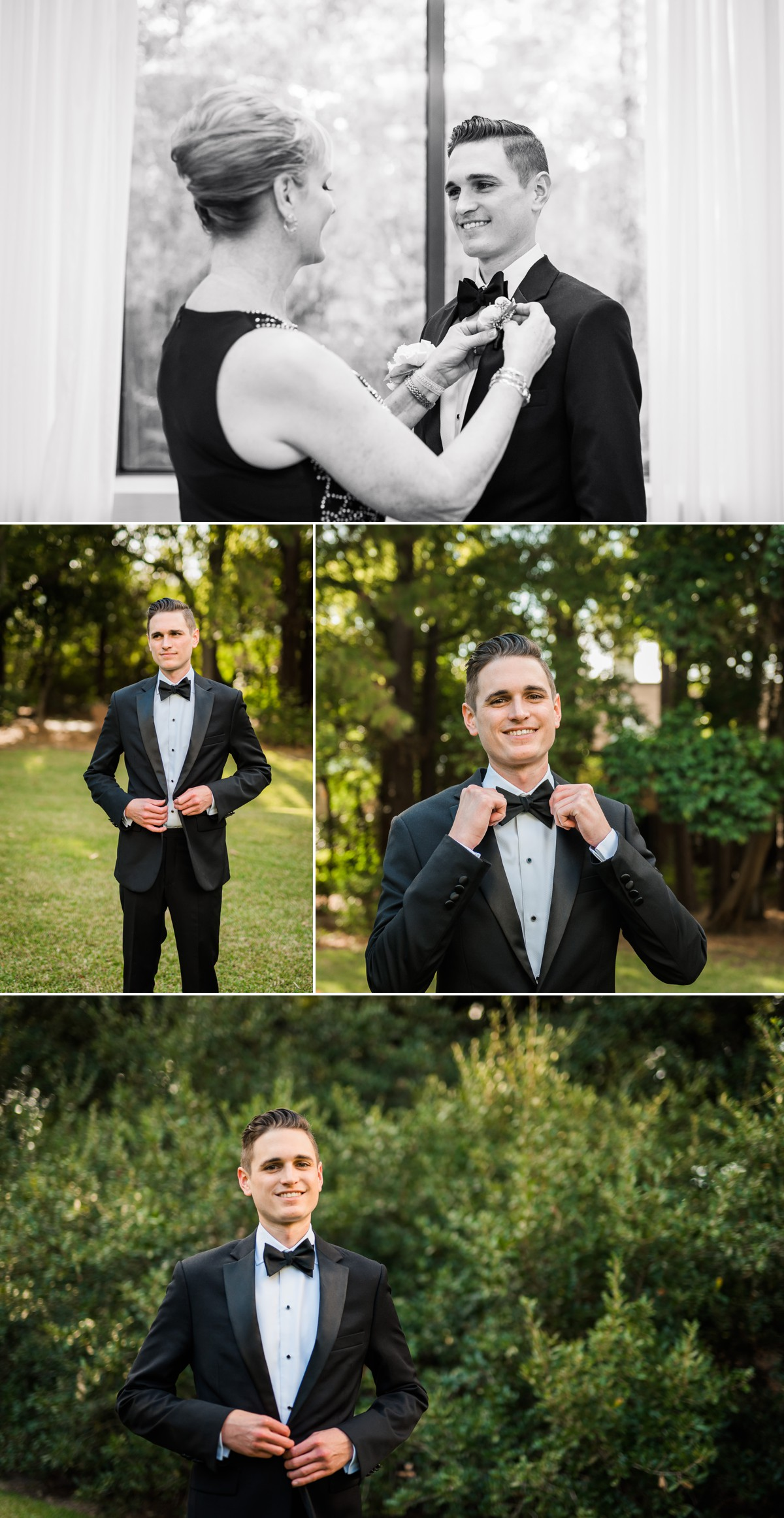 Manor House Wedding at The Houstonian Hotel Groom Portraits