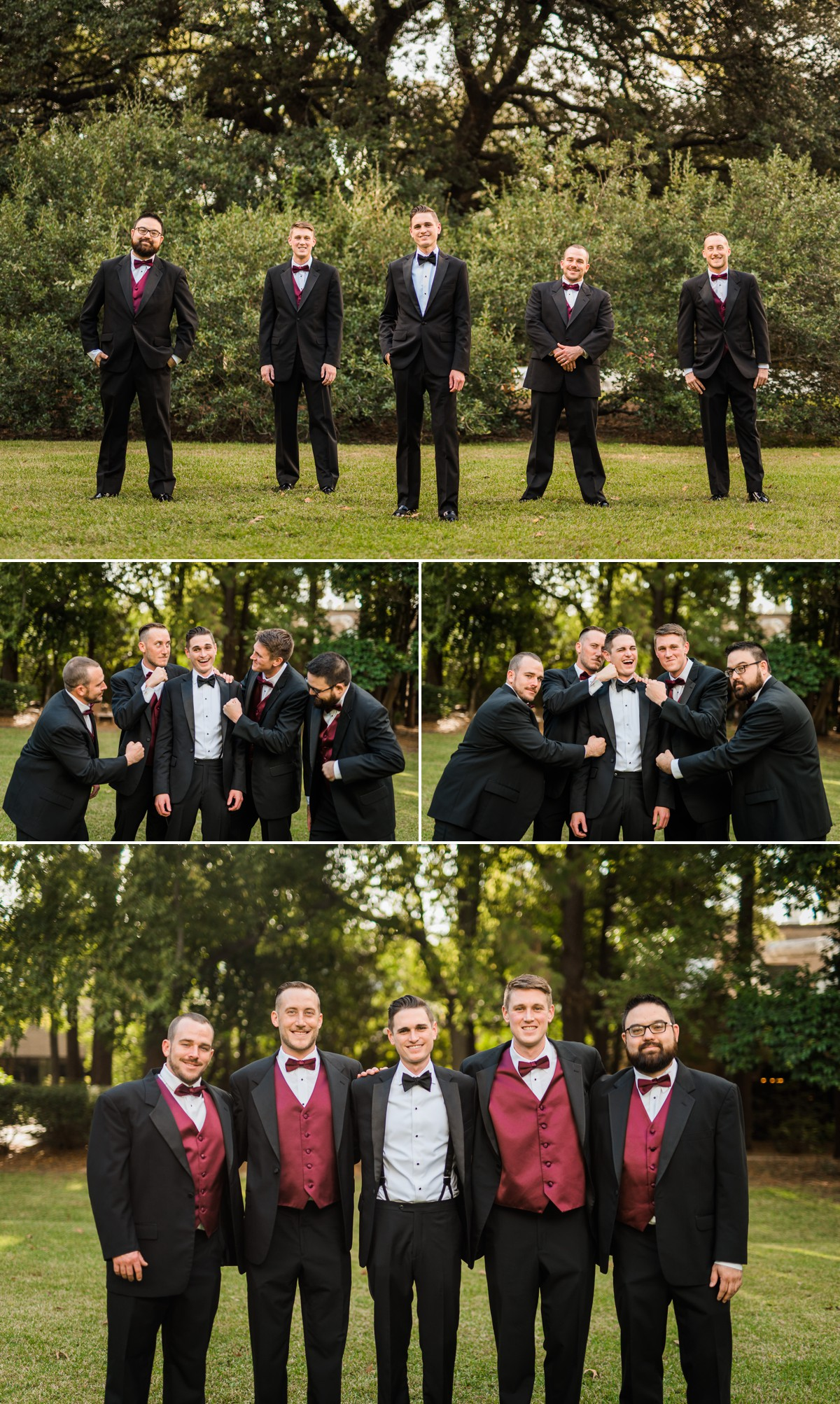 Manor House Wedding at The Houstonian Hotel Groomsman outdoors