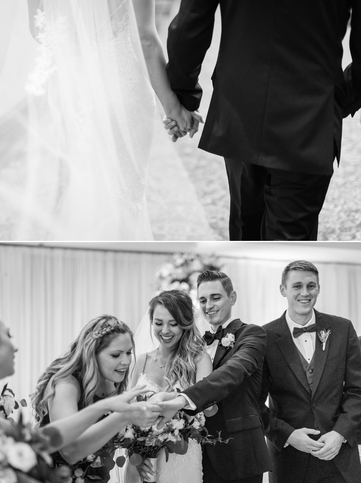 Manor House Wedding at The Houstonian Hotel Bride and Groom Rings holding hands