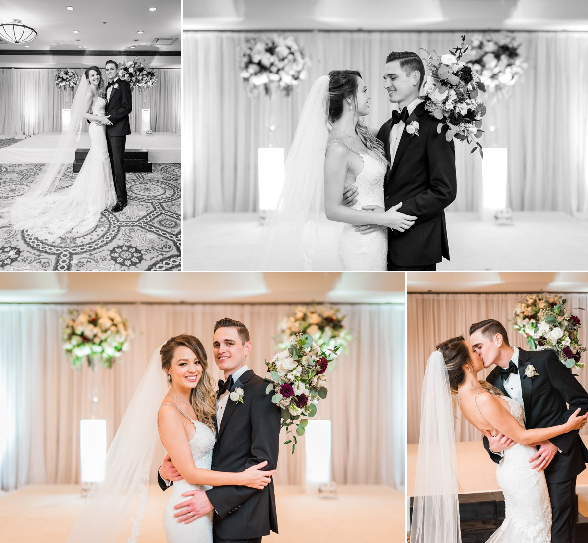 Manor House Wedding at The Houstonian Hotel Bride and Groom Portraits Indoors