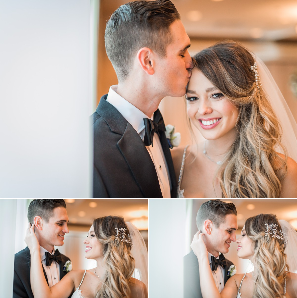 Manor House Wedding at The Houstonian Hotel Bride and Groom Portraits Indoor