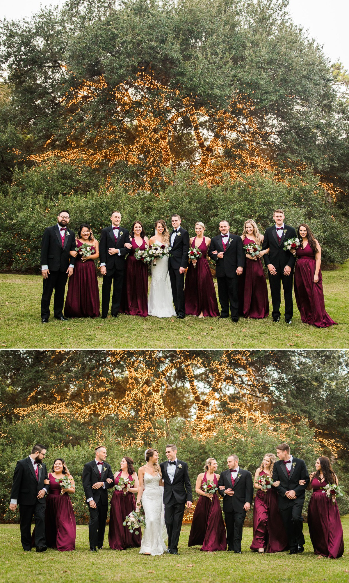 Manor House Wedding at The Houstonian Hotel Outdoors Bridal Party
